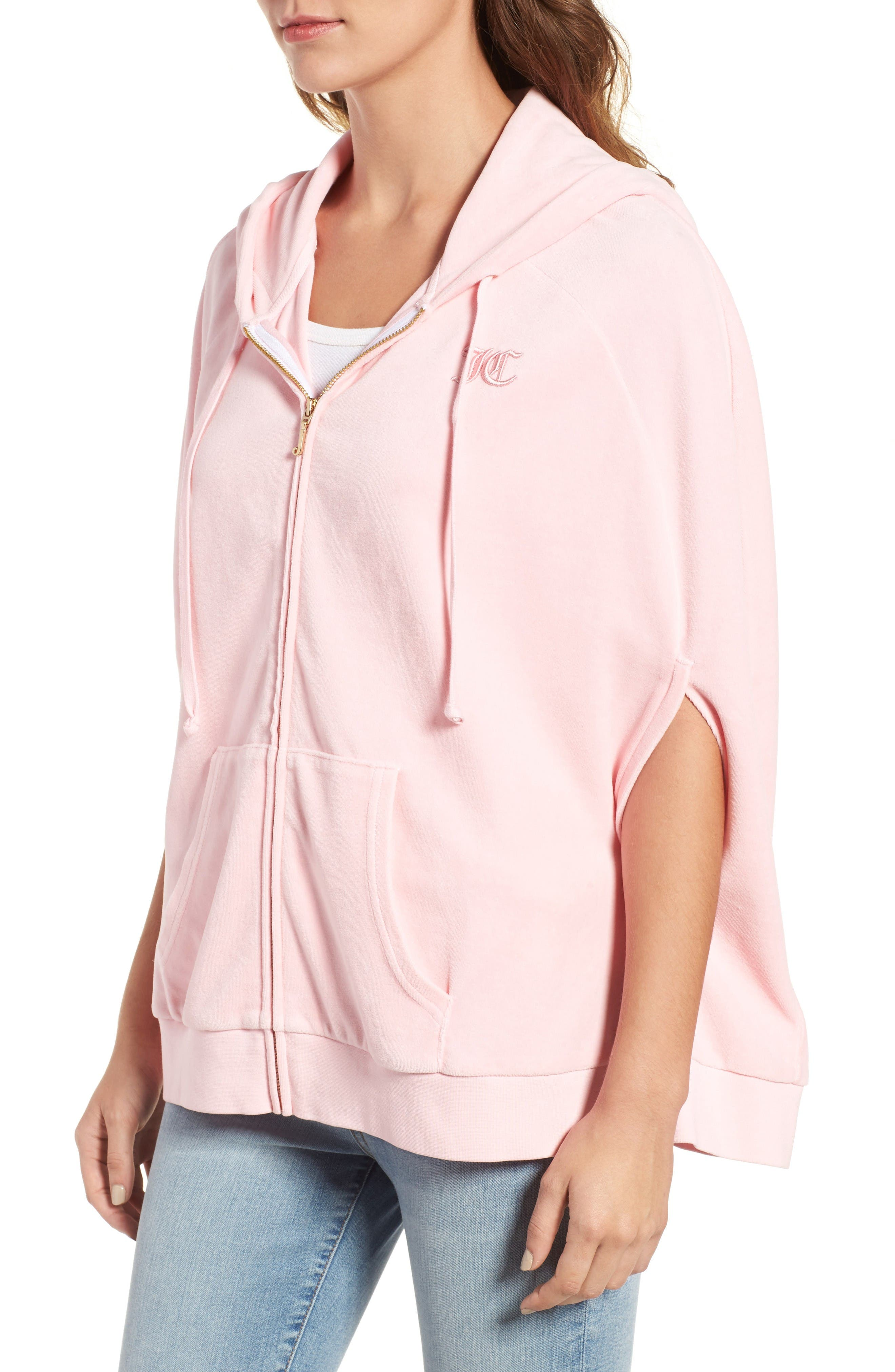 Alternate Image 3  - Juicy Couture Velour Cape Hoodie