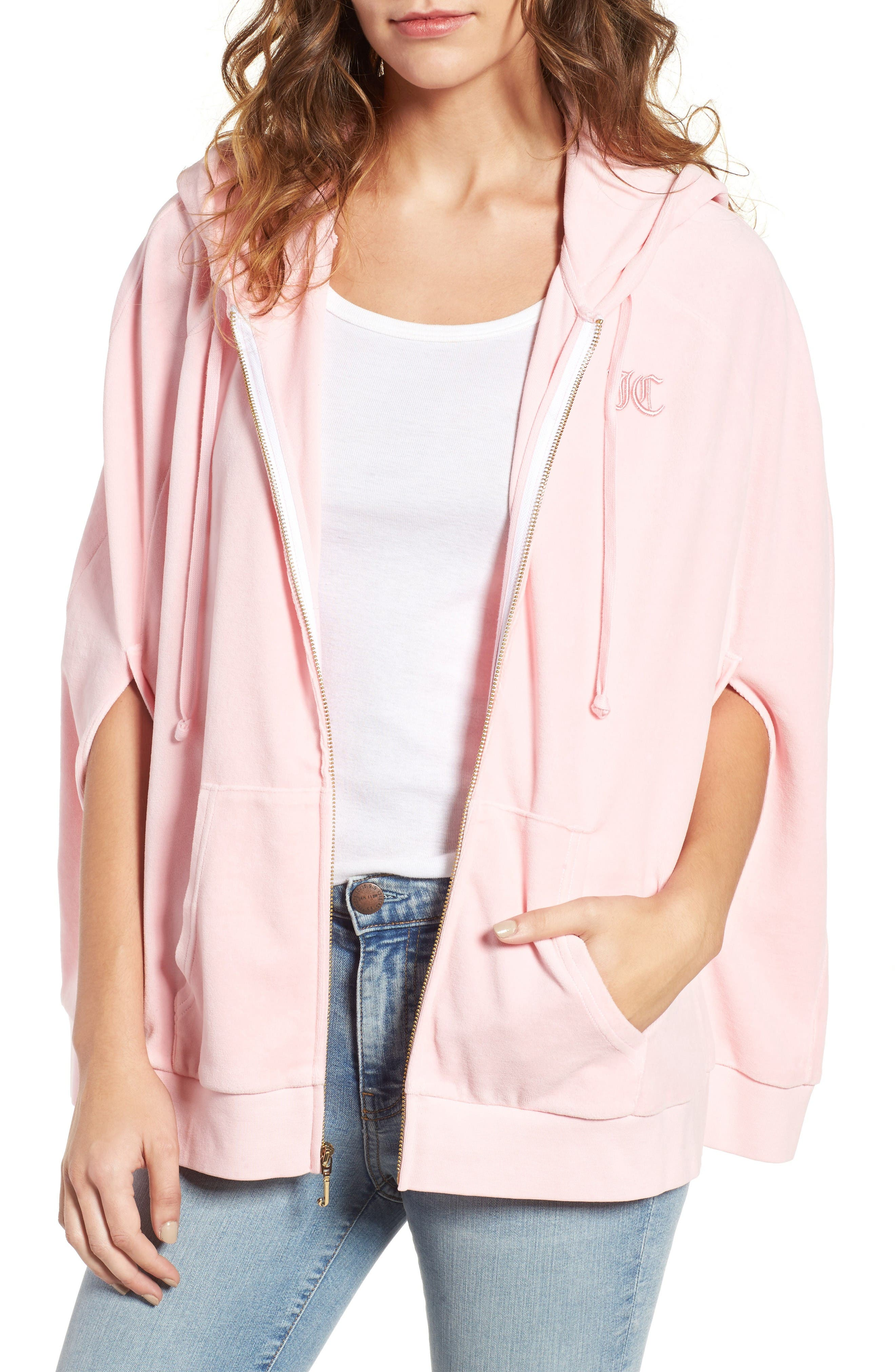Alternate Image 1 Selected - Juicy Couture Velour Cape Hoodie