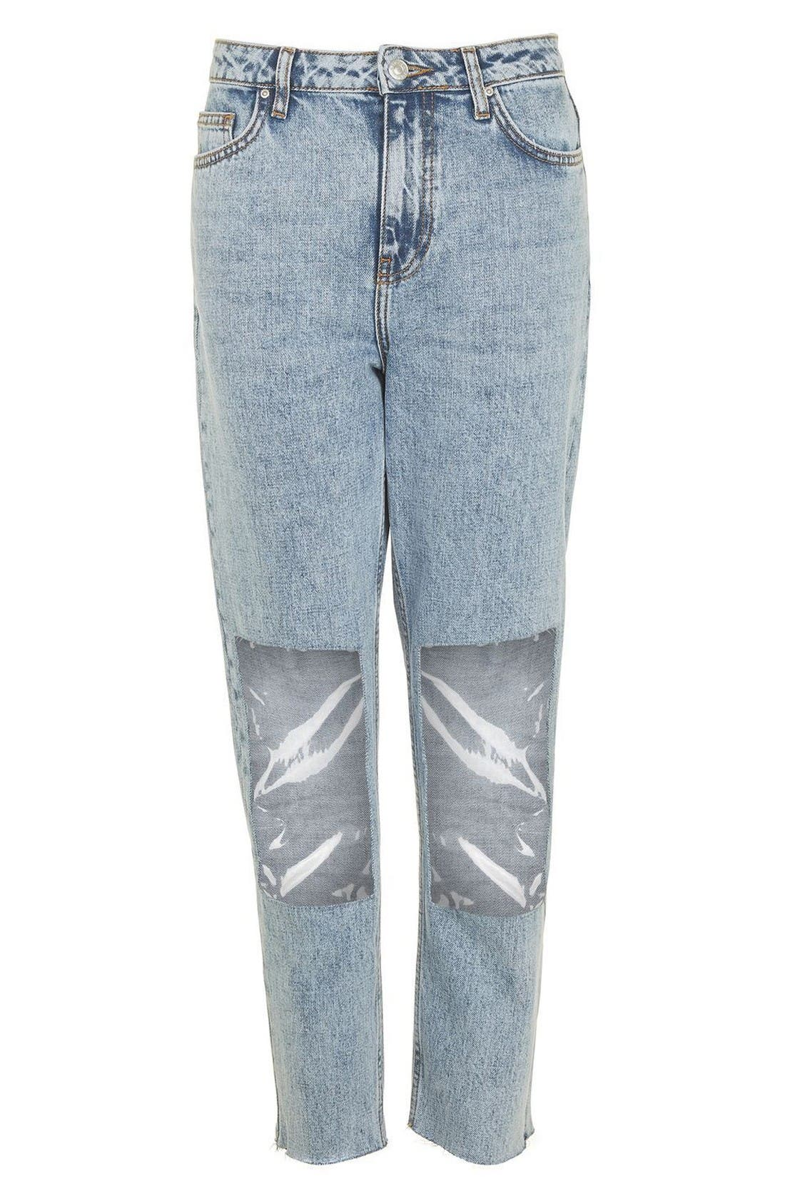 Alternate Image 4  - Topshop Clear Knee Mom Jeans