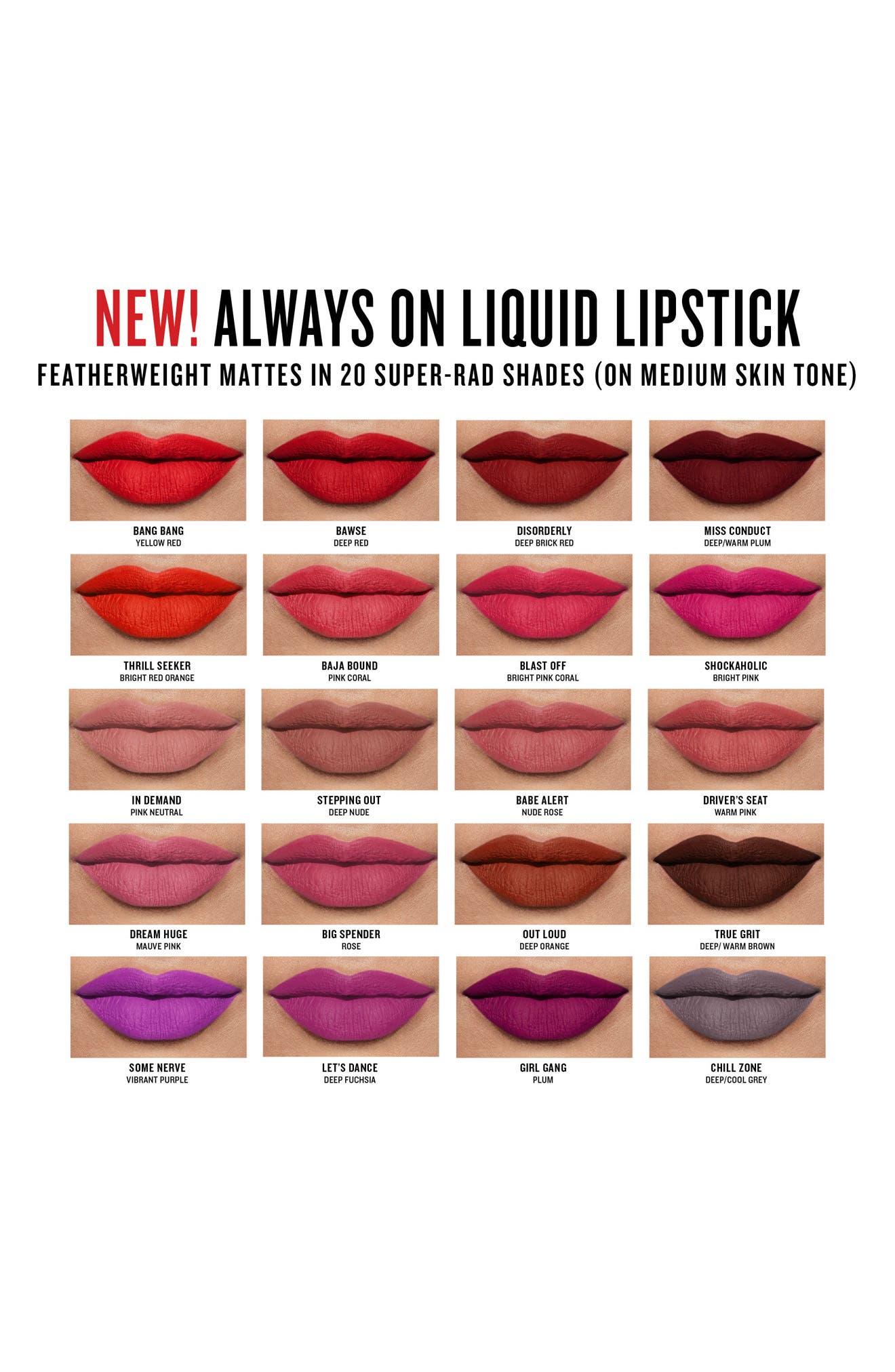Alternate Image 3  - Smashbox Always On Matte Liquid Lipstick