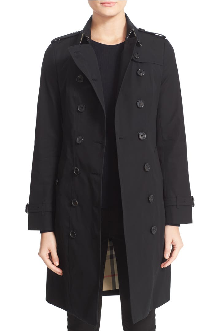 burberry sandringham long slim trench coat nordstrom. Black Bedroom Furniture Sets. Home Design Ideas