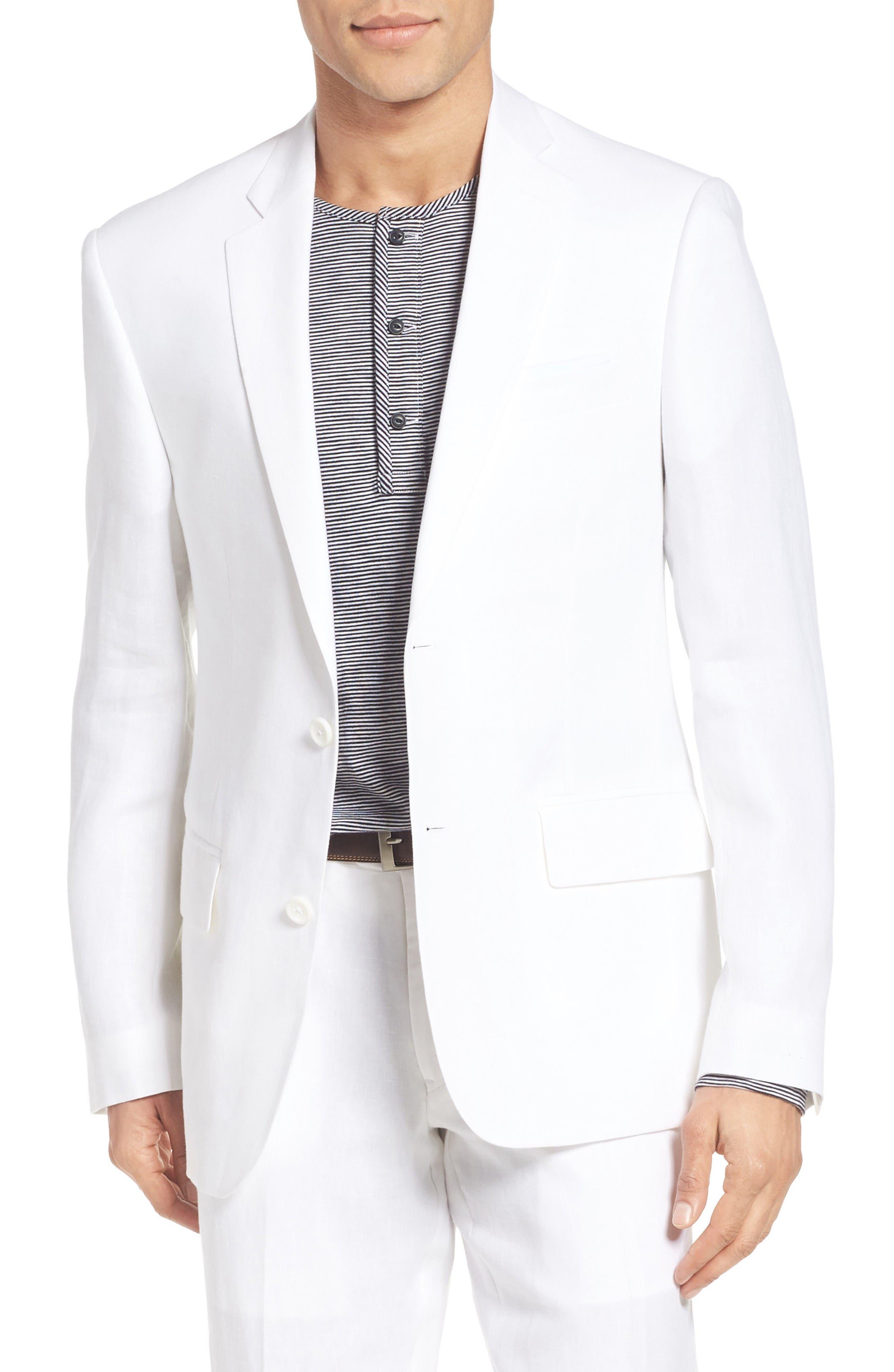 Nordstrom Men's Shop Trim Fit Linen Blazer