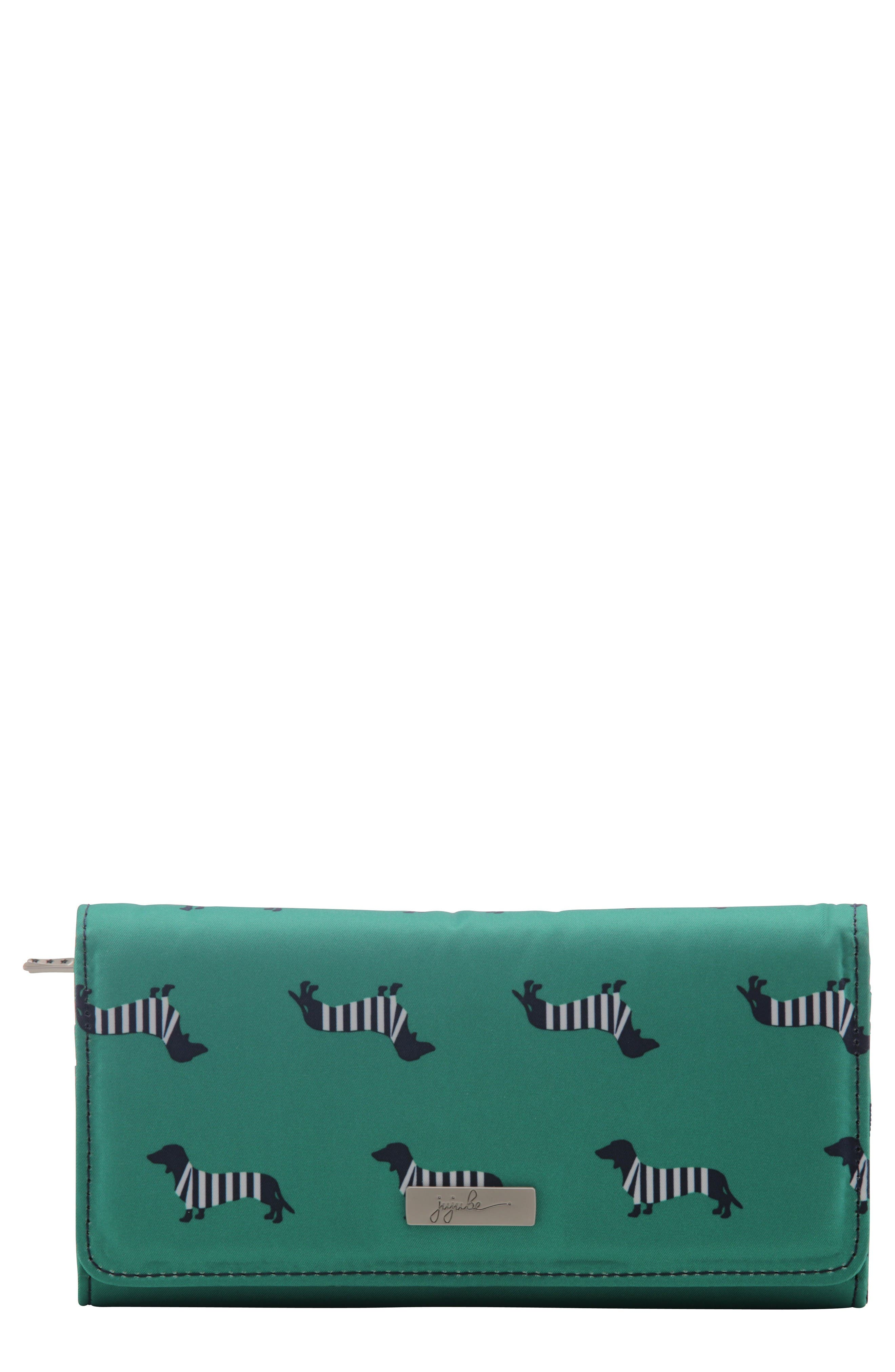 Be Rich - Coastal Collection Trifold Clutch Wallet,                             Main thumbnail 1, color,                             Coney Island
