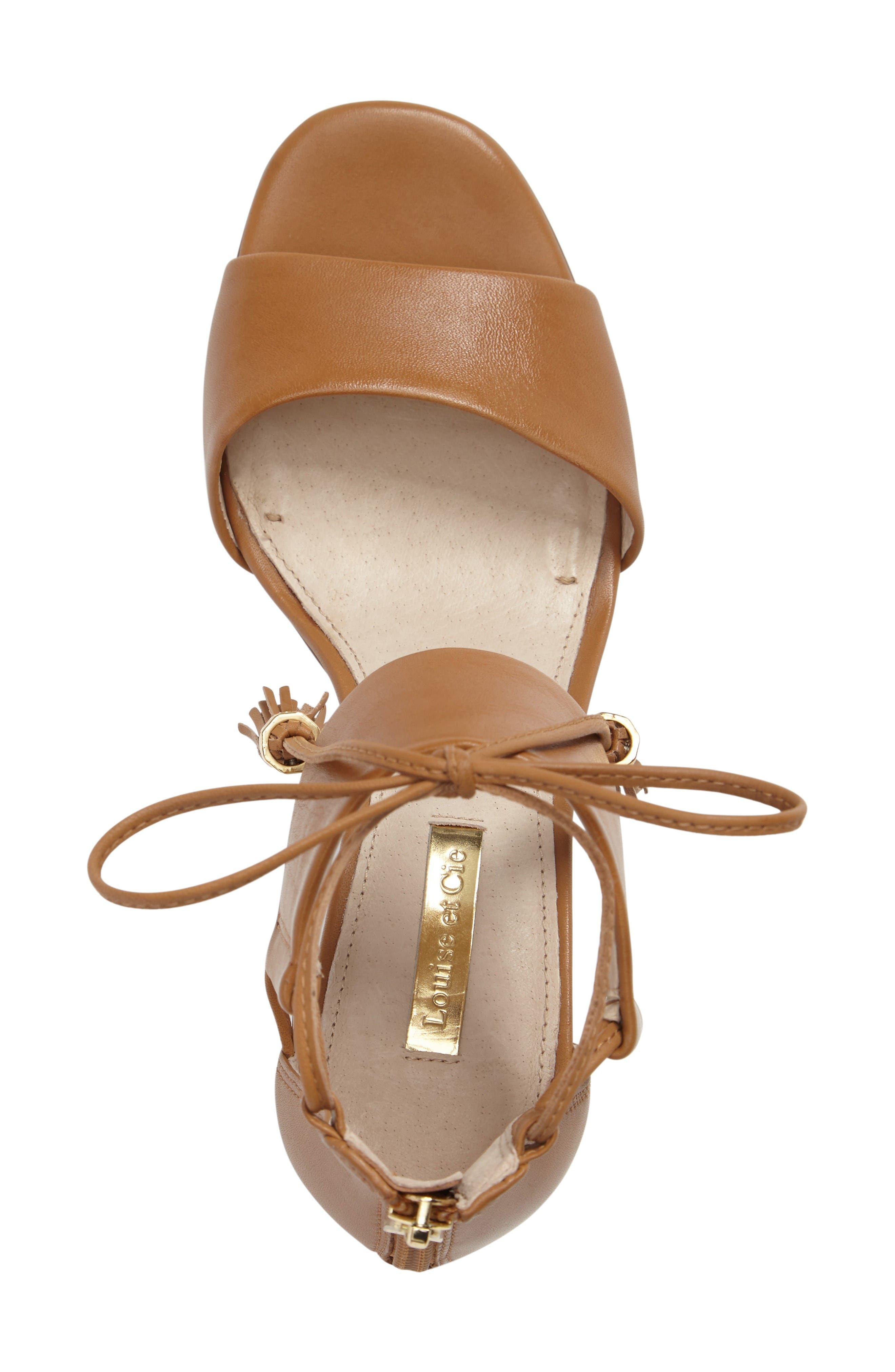 Keegan Block Heel Sandal,                             Alternate thumbnail 3, color,                             True Tan Leather