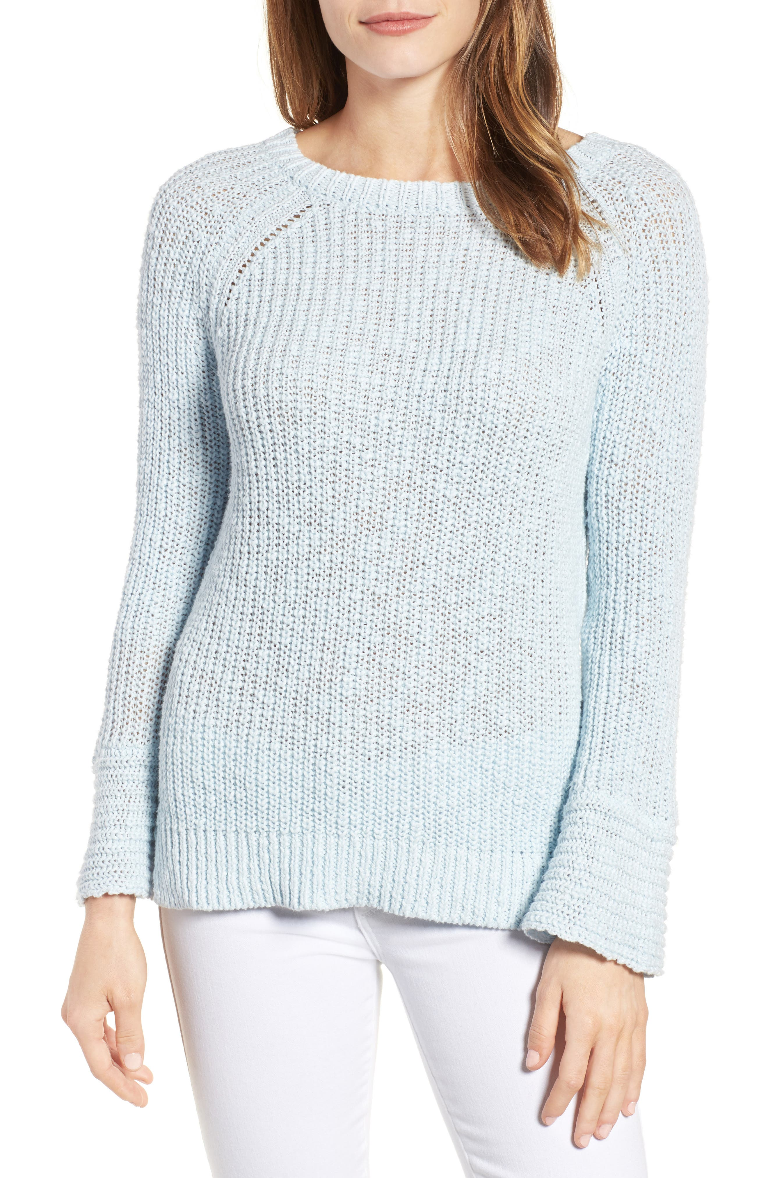VELVET BY GRAHAM & SPENCER Cotton & Linen Tie Back Sweater