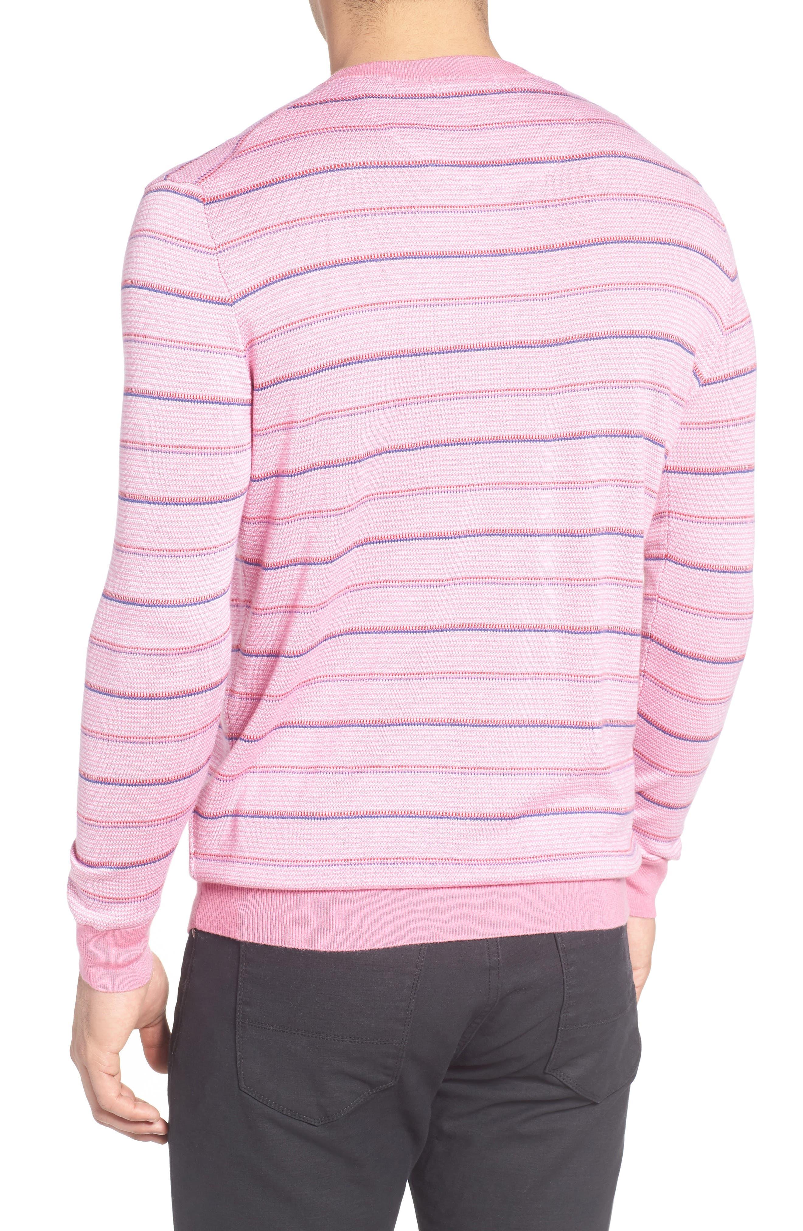 Alternate Image 2  - Bugatchi Stripe Silk Blend Sweater