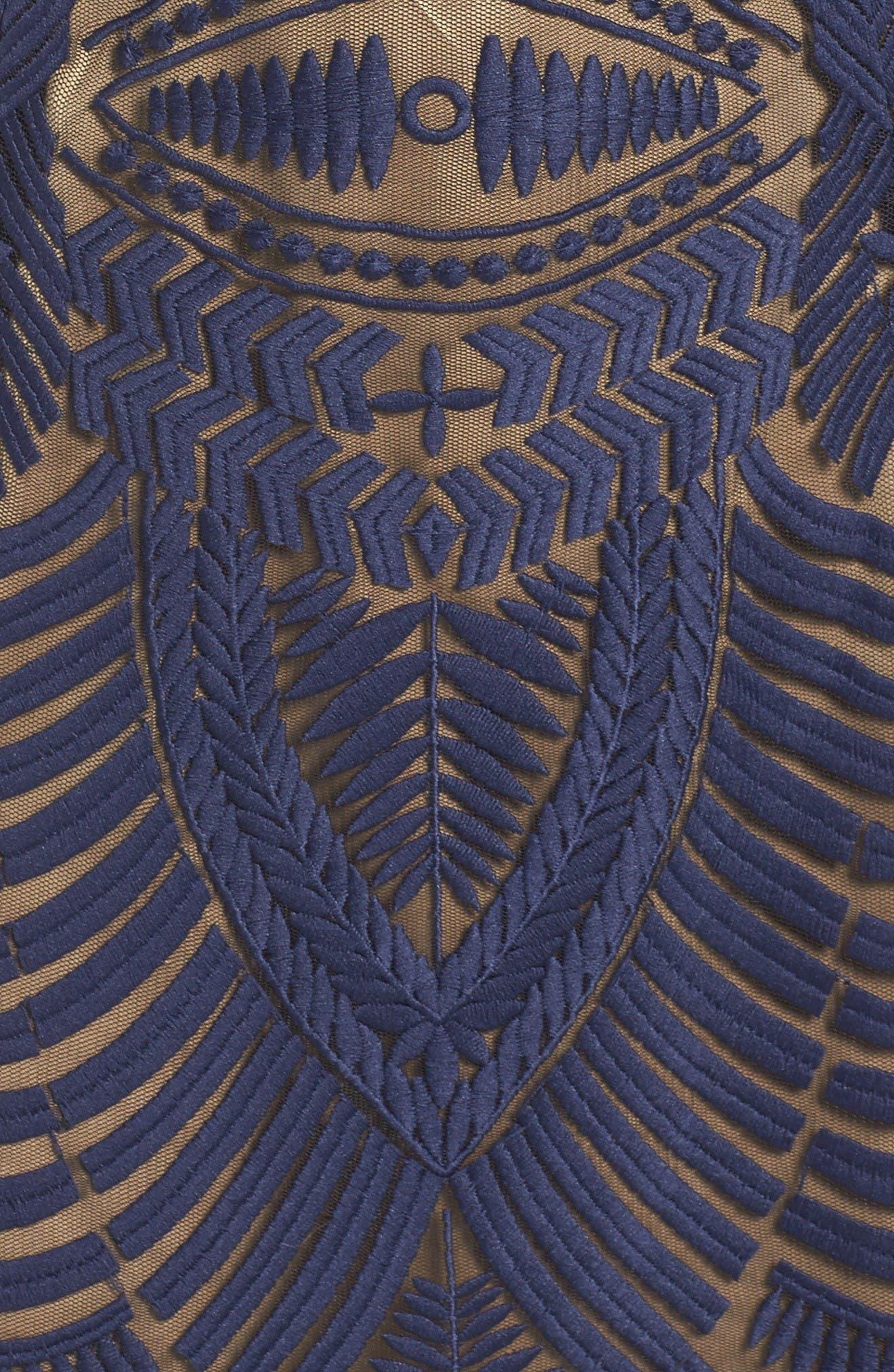 Alternate Image 5  - Bardot Embroidered Mesh Dress