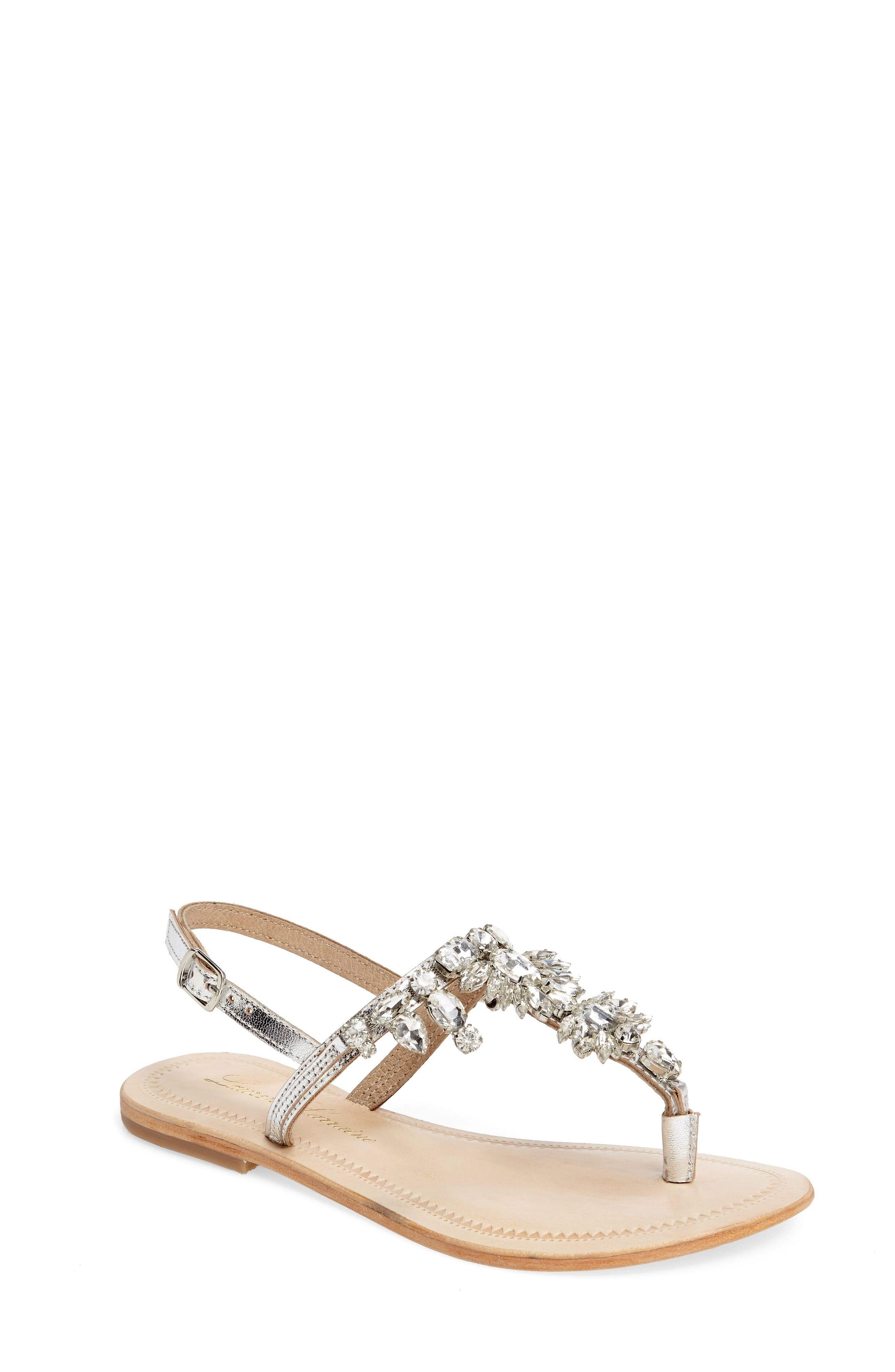 Lauren Lorraine Bermuda Embellished Sandal (Women)