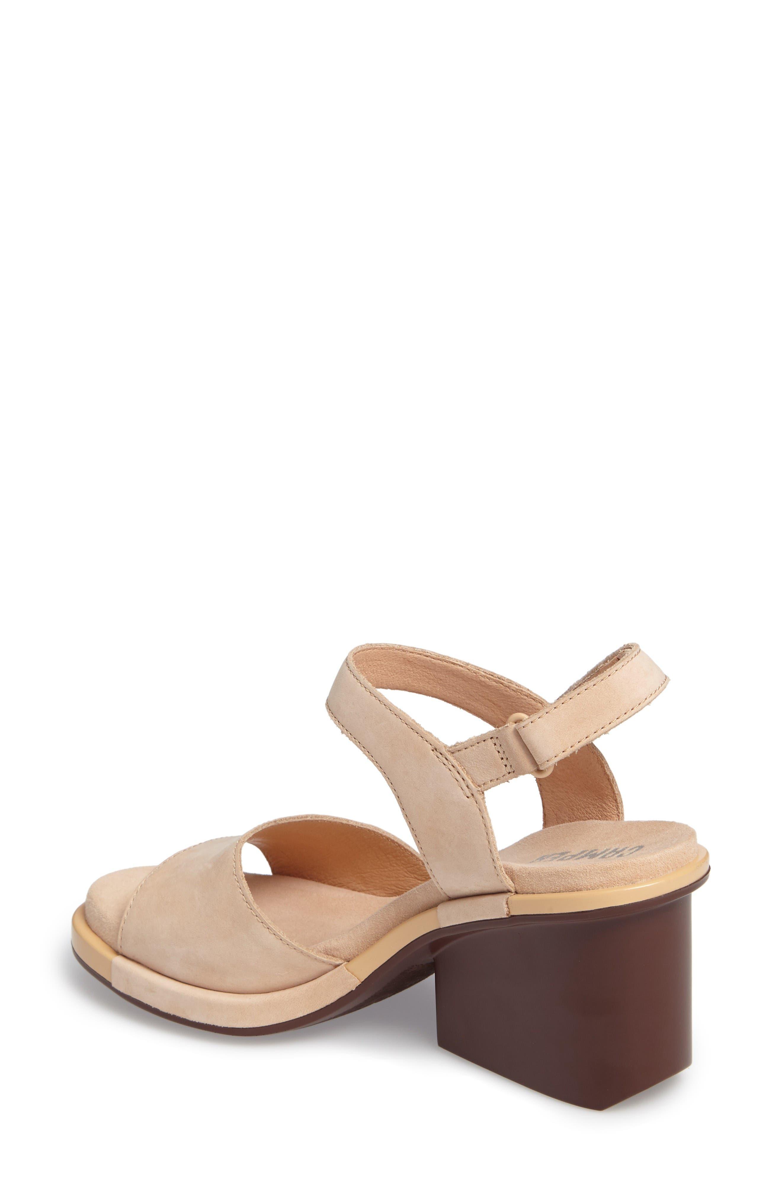 Ivy Ankle Strap Sandal,                             Alternate thumbnail 2, color,                             Beige Leather