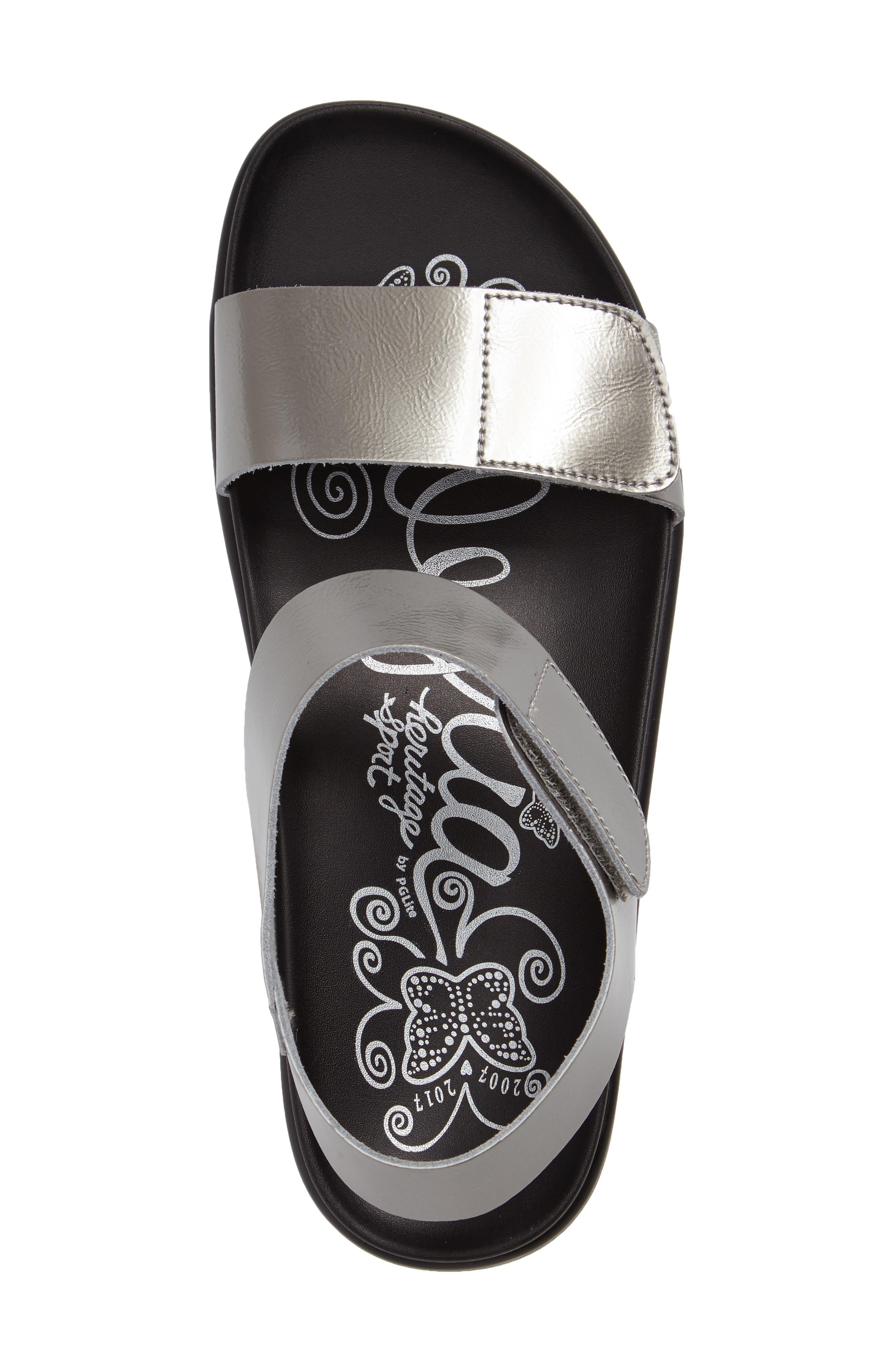 Playa Sandal,                             Alternate thumbnail 3, color,                             Pewter Patent Leather