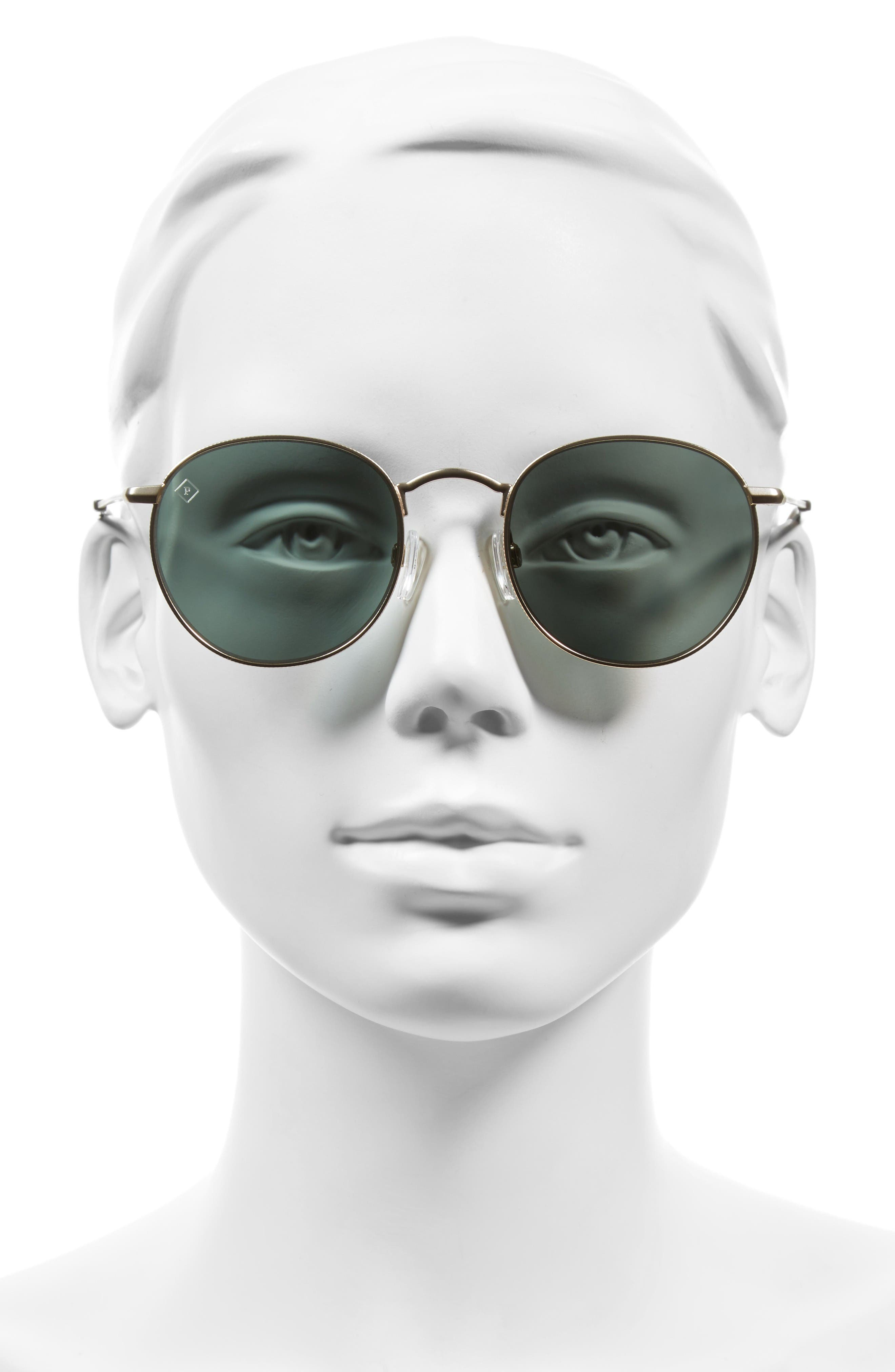 Benson 51mm Polarized Sunglasses,                             Alternate thumbnail 2, color,                             Gold/ Brindle