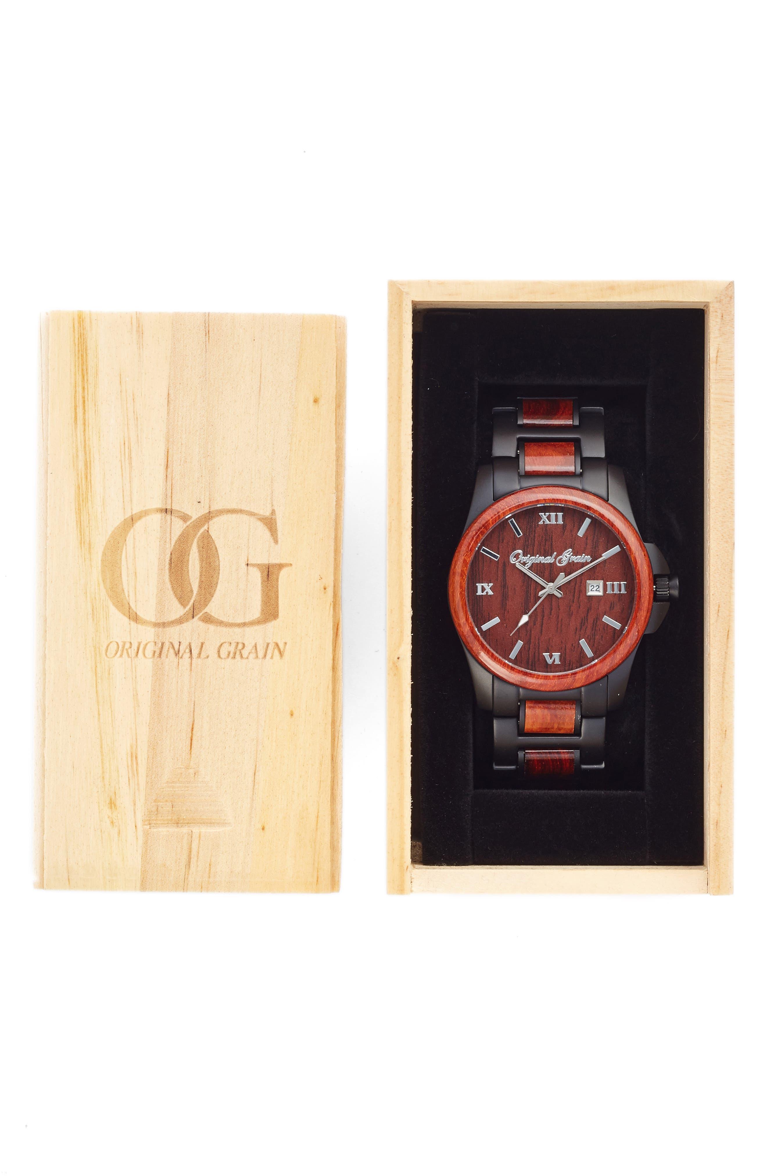 Alternate Image 4  - Original Grain The Classic Bracelet Watch, 43mm