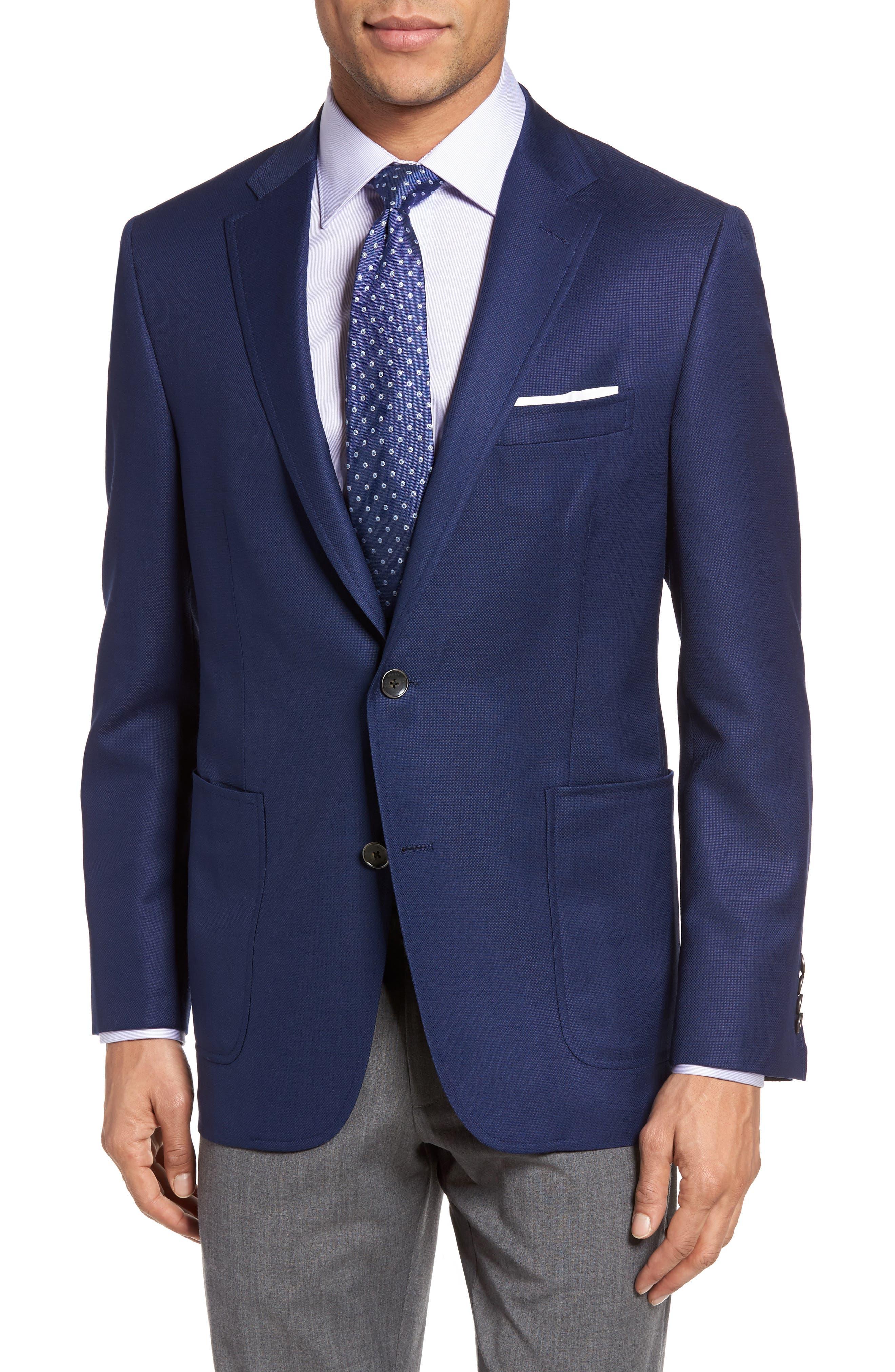 Hickey Freeman Classic B Fit Global Guardian Wool Blazer