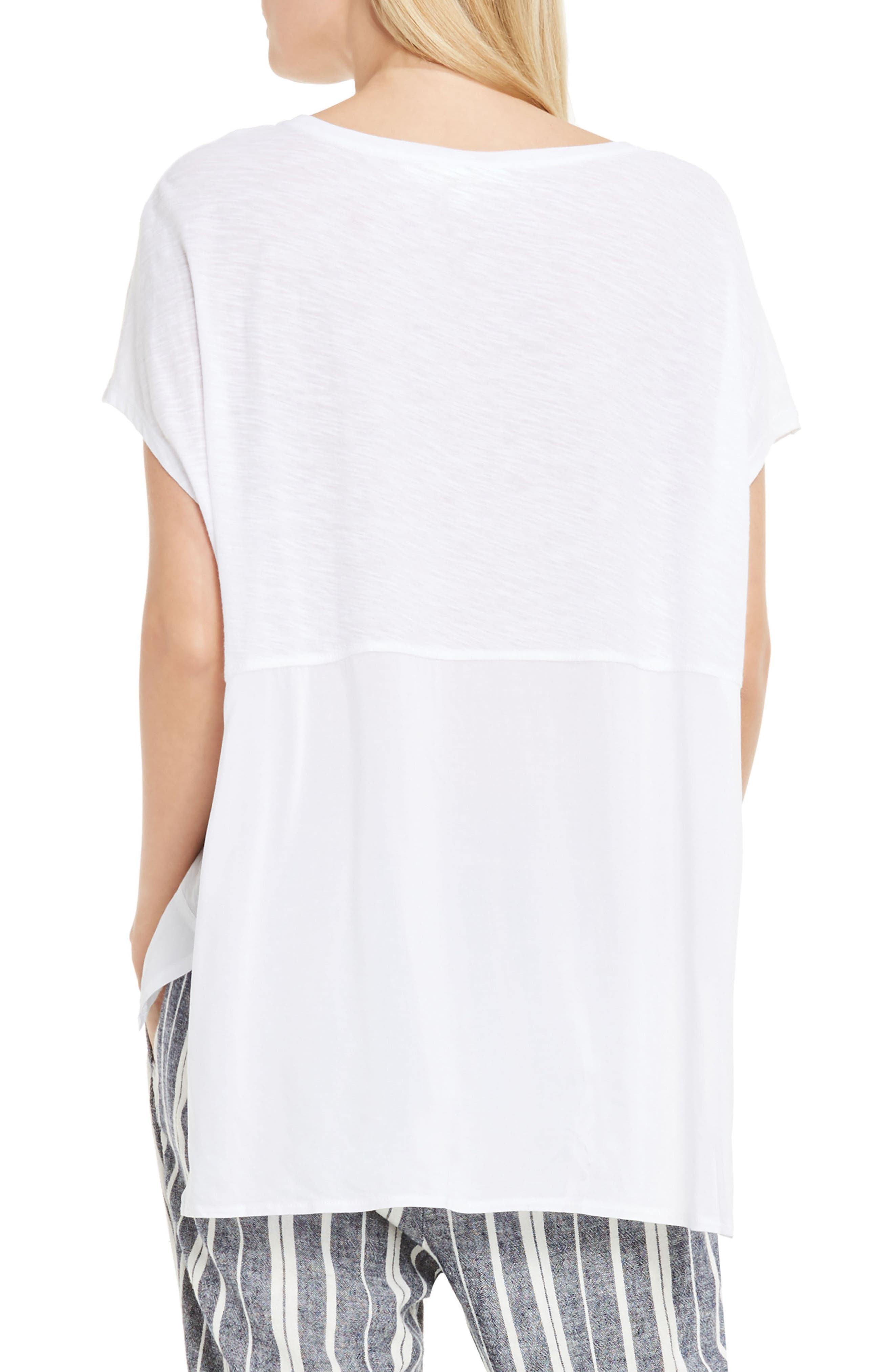 Alternate Image 2  - Two by Vince Camuto Chiffon High/Low Hem Knit Tee