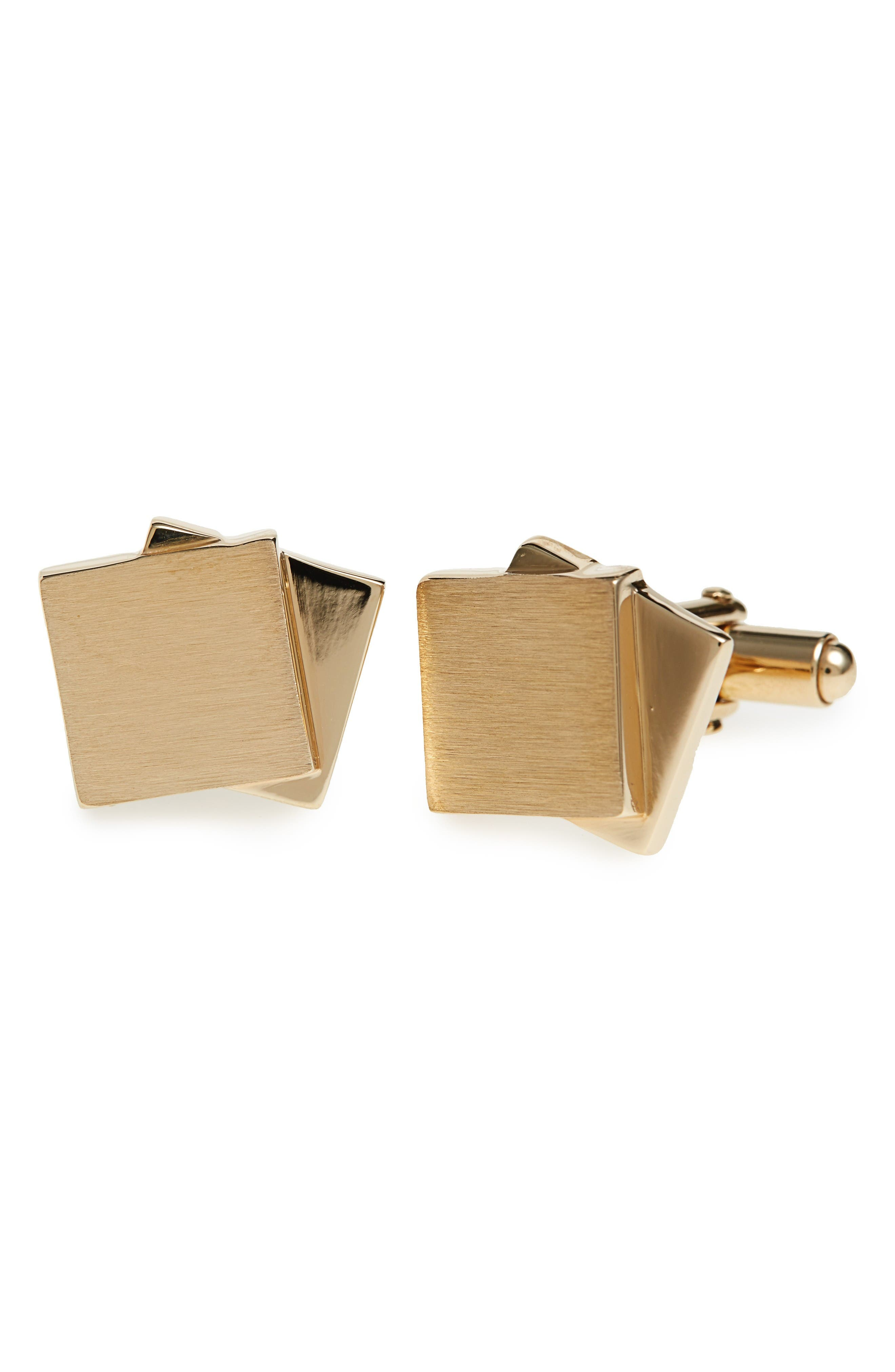 LANVIN Dual Plaques Cuff Links