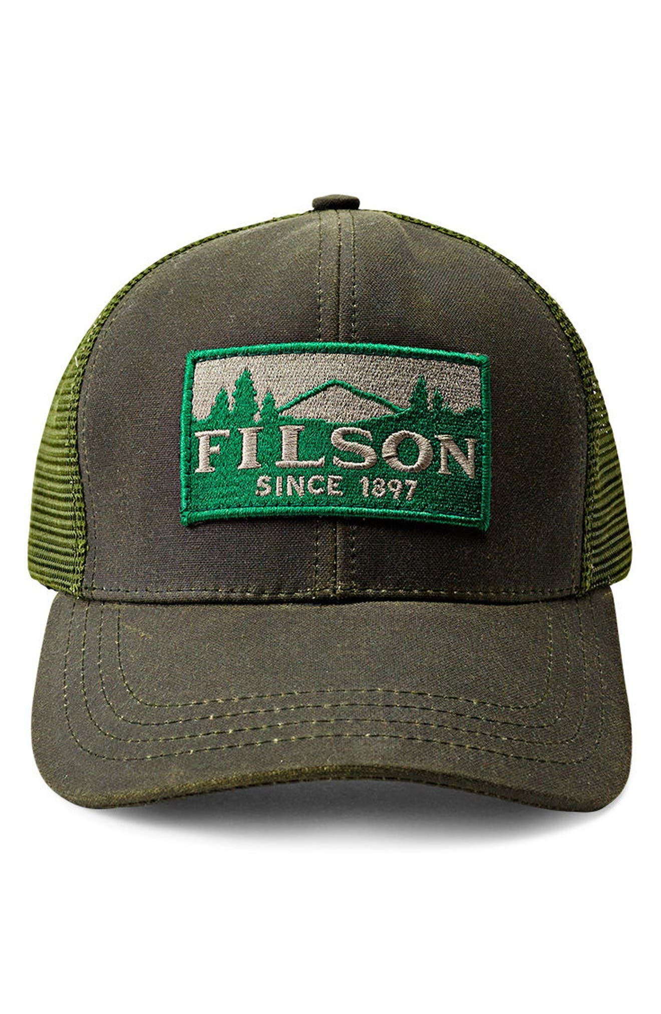 Logger Trucker Hat,                             Main thumbnail 1, color,                             Otter Green