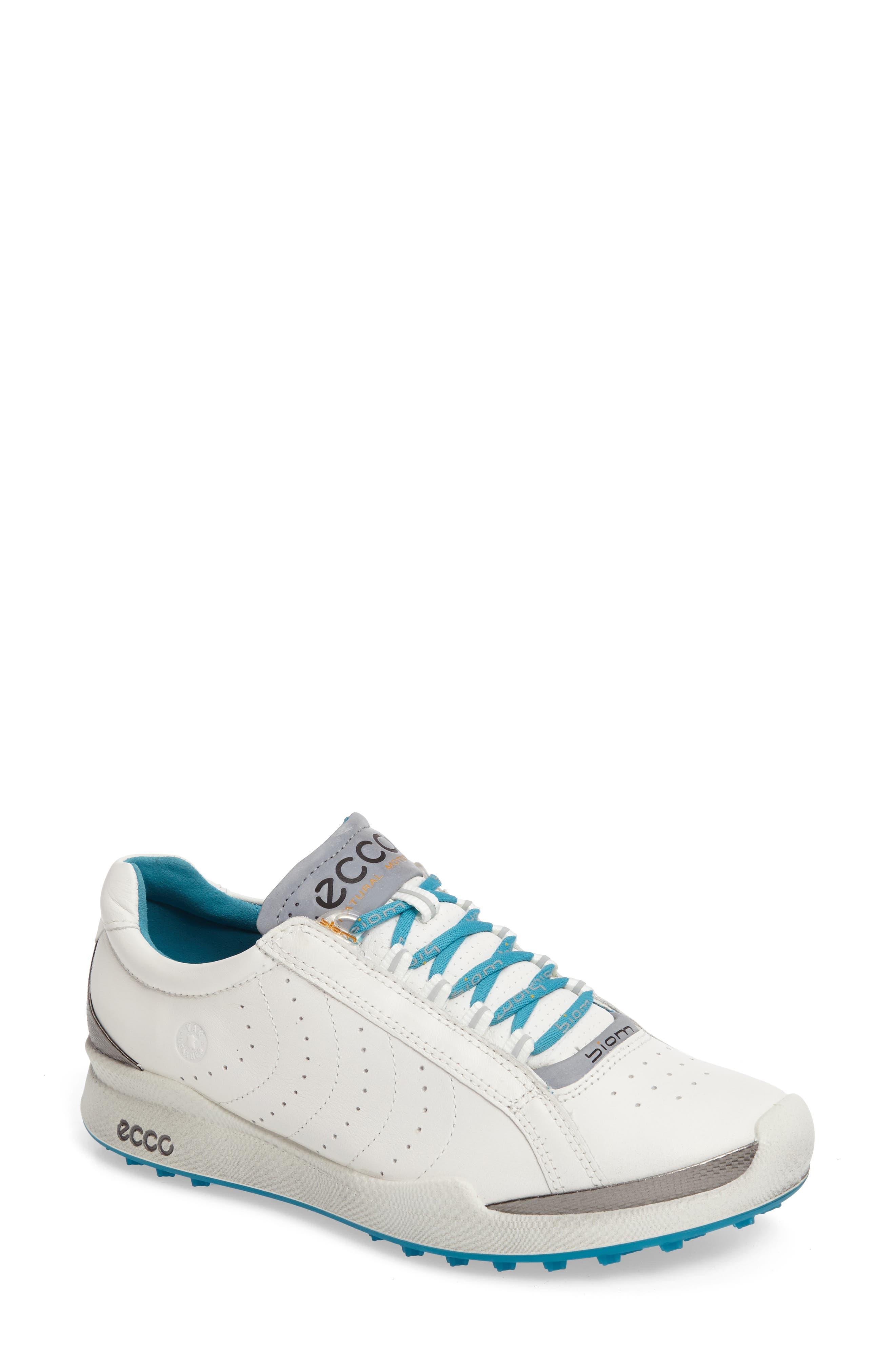 Biom 2 Waterproof Golf Shoe,                             Main thumbnail 1, color,                             White