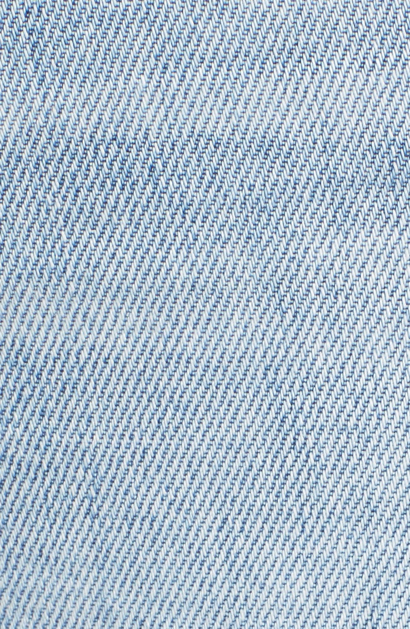 Rocket High Waist Crop Skinny Jeans,                             Alternate thumbnail 5, color,                             Oracle Blue