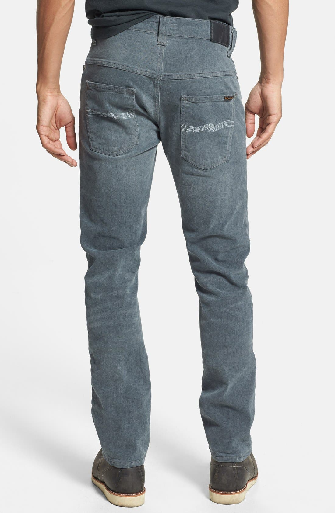 Alternate Image 2  - Nudie Jeans 'Thin Finn' Skinny Fit Jeans (Organic Lighter Shade)