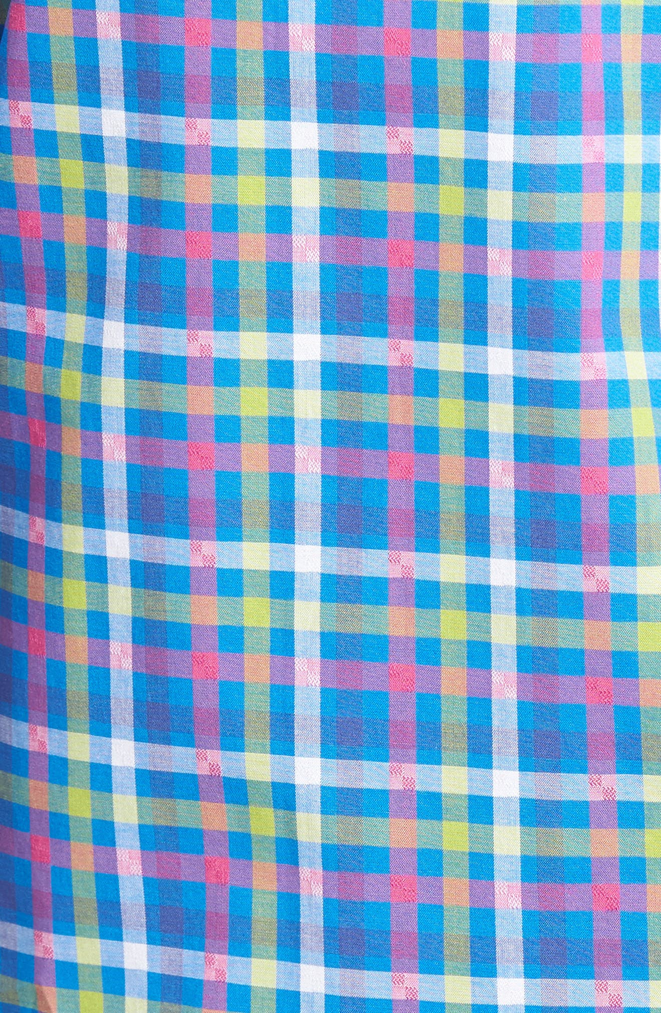 Alternate Image 5  - TailorByrd Plum Check Sport Shirt