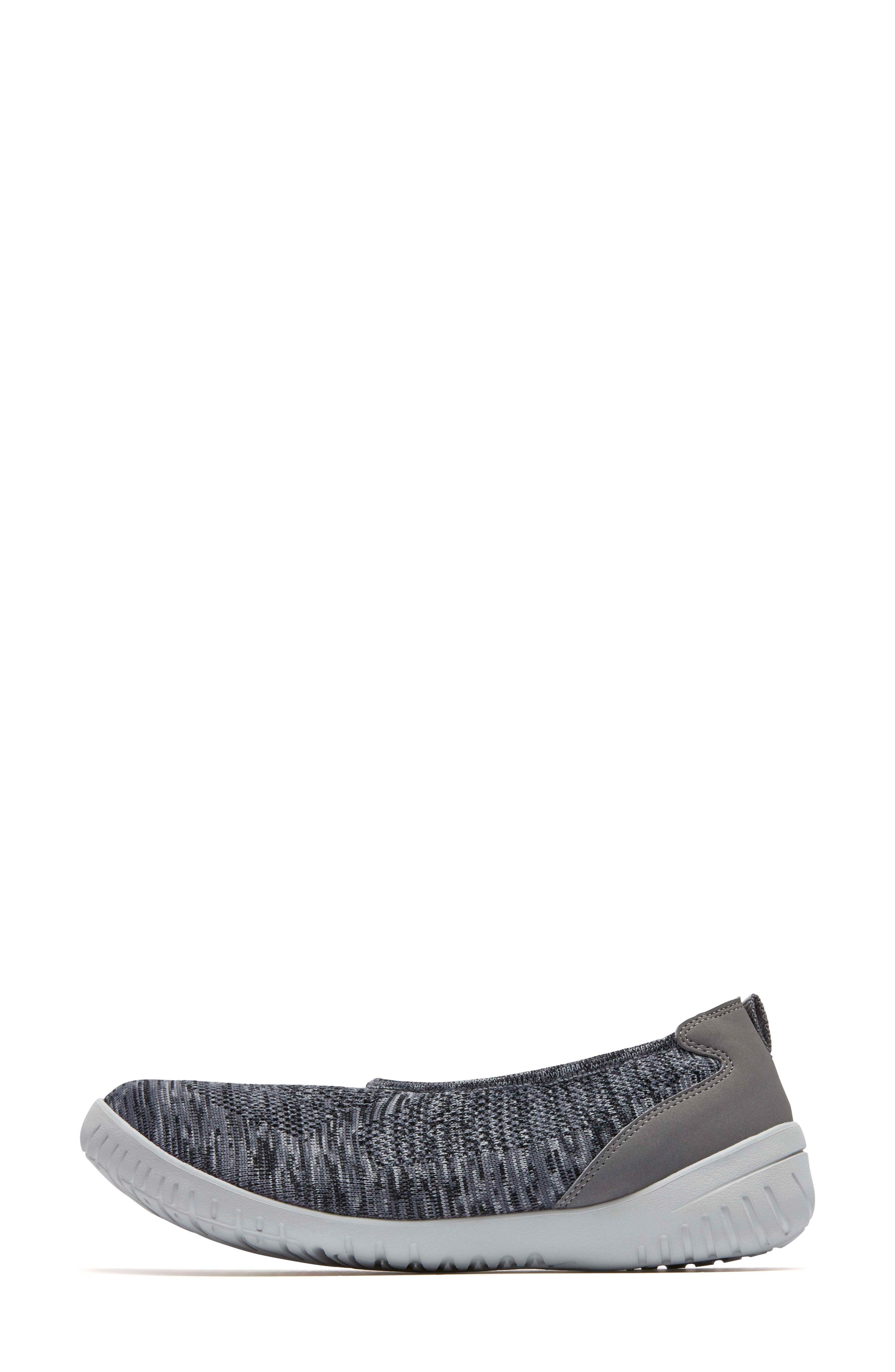 Raelyn Knit Ballet Sneaker,                             Alternate thumbnail 2, color,                             Dark Grey Heather Fabric
