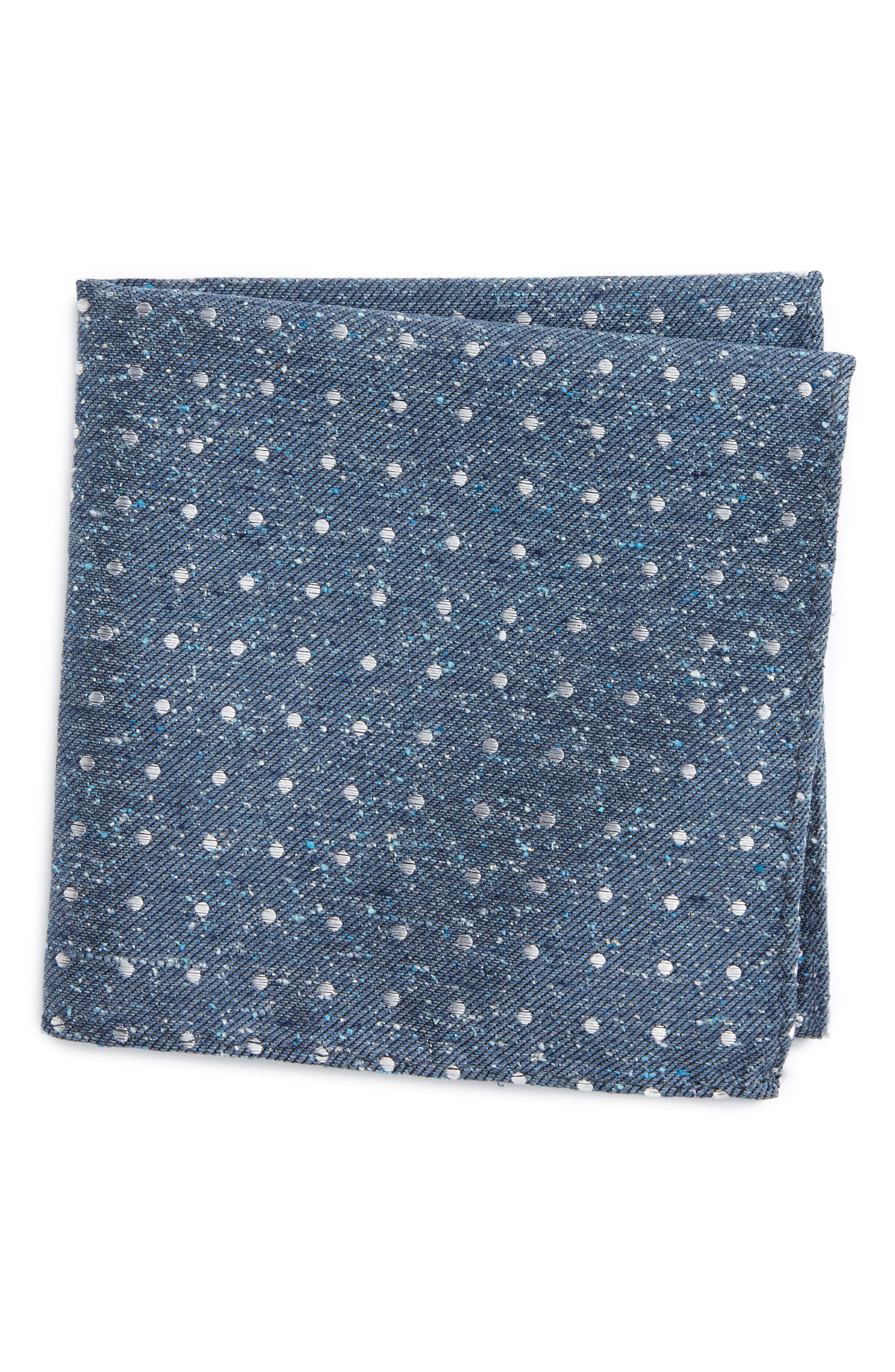 Main Image - The Tie Bar Knotted Dots Silk Pocket Square