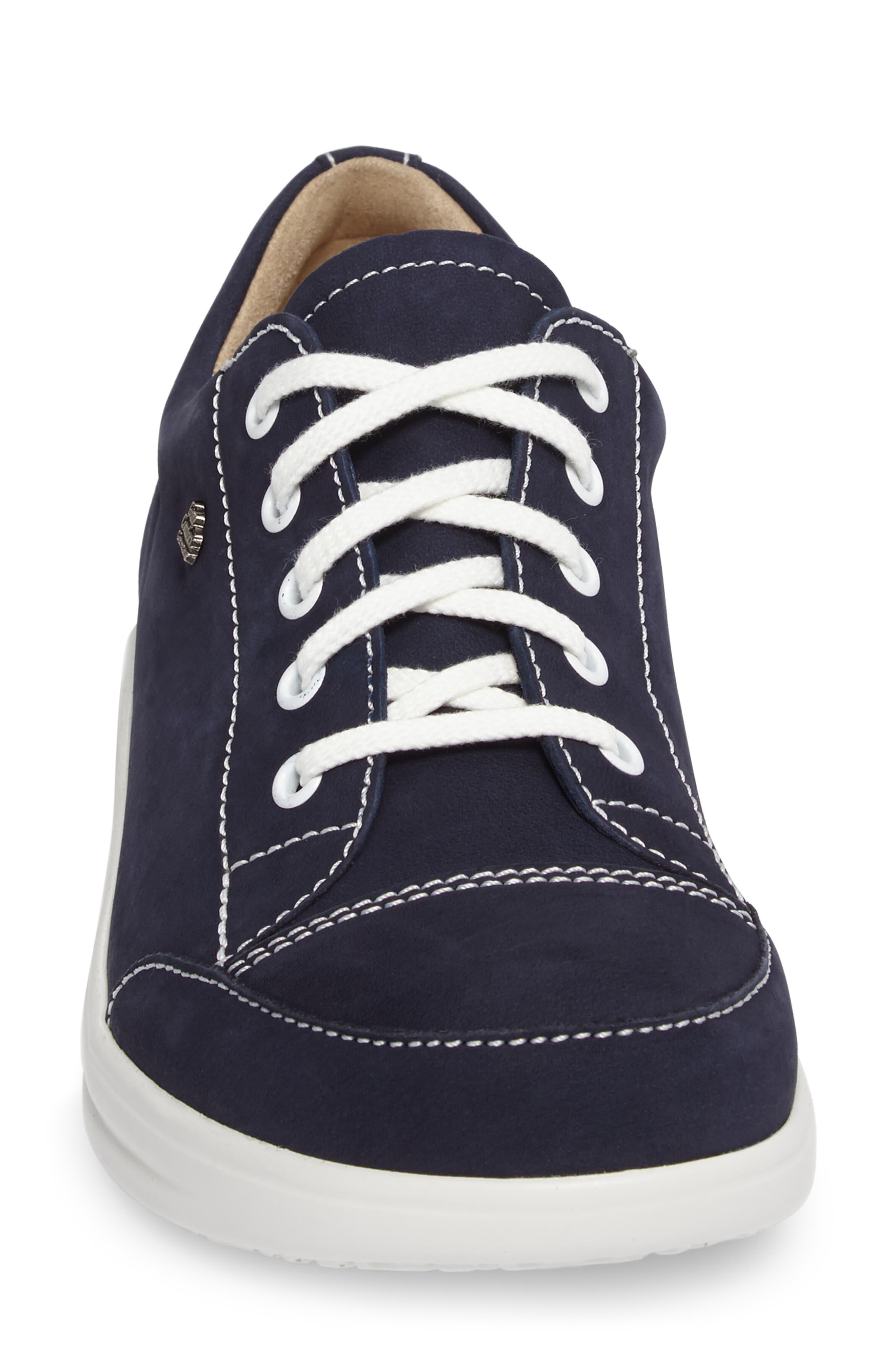 FINNAMIC by Finn Comfort 'Ikebukuro' Walking Shoe,                             Alternate thumbnail 4, color,                             Atlantic Leather