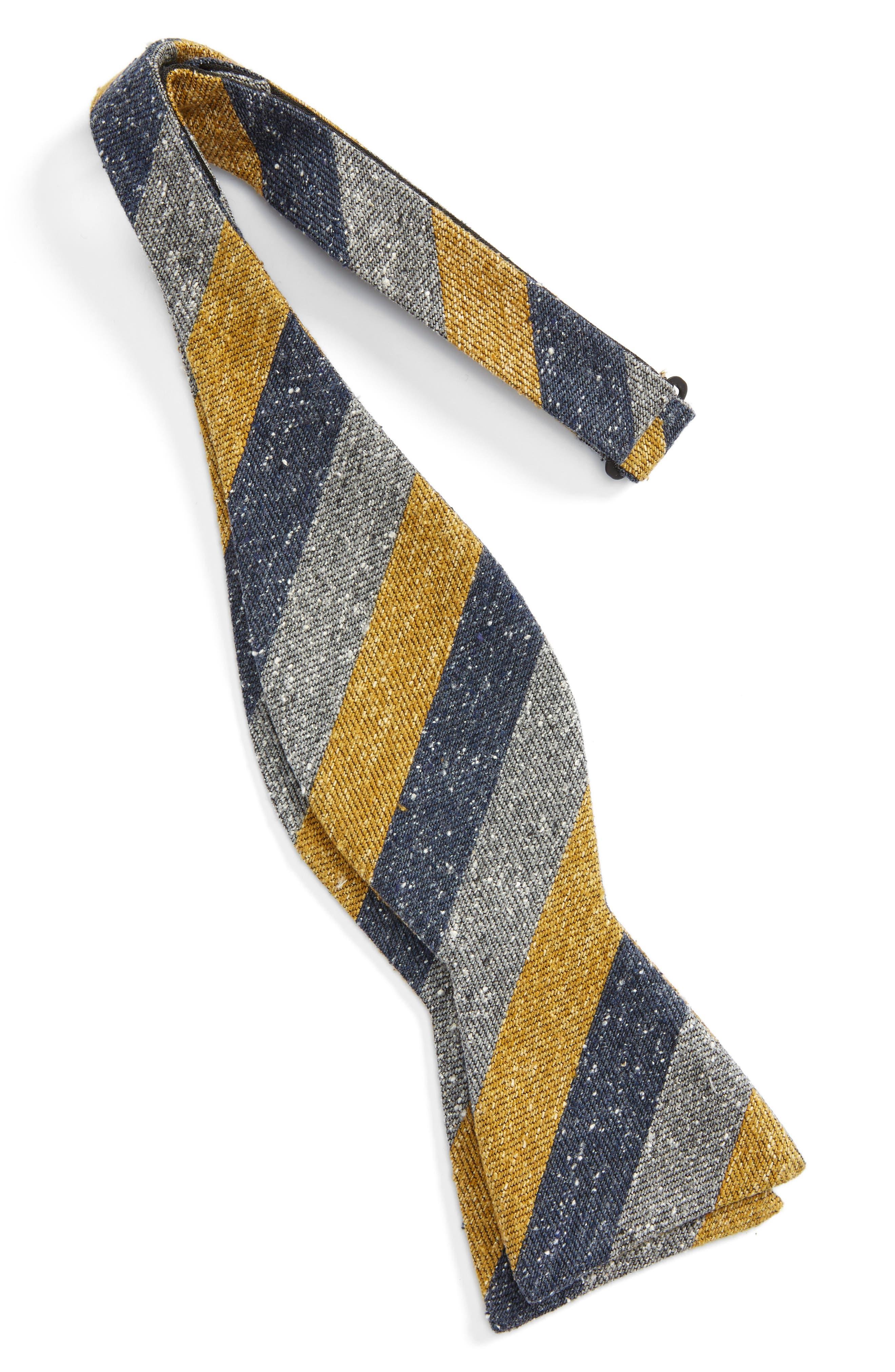 Alternate Image 2  - The Tie Bar Varios Stripe Silk Bow Tie