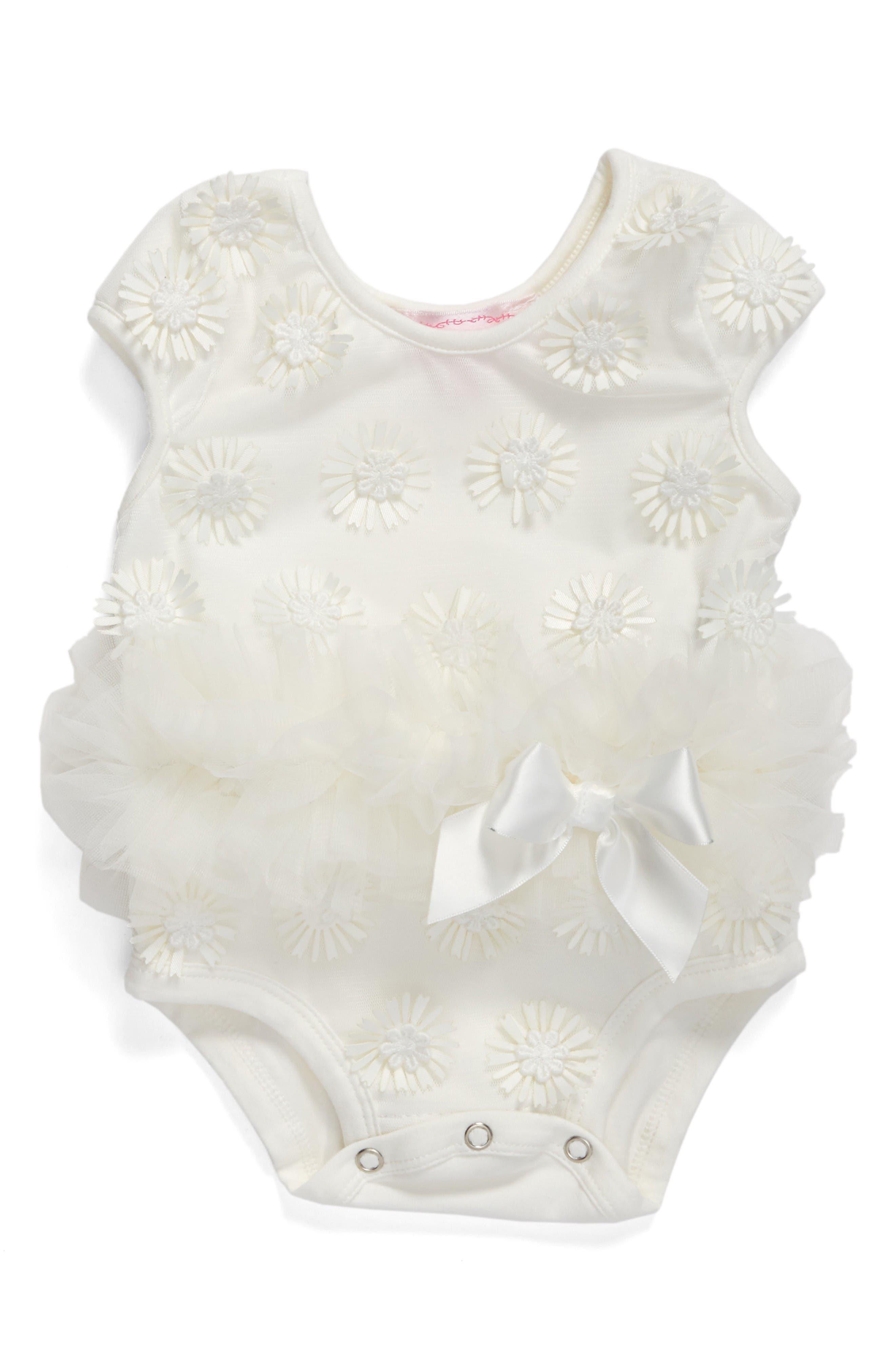 Daisy Tutu Bodysuit,                         Main,                         color, White