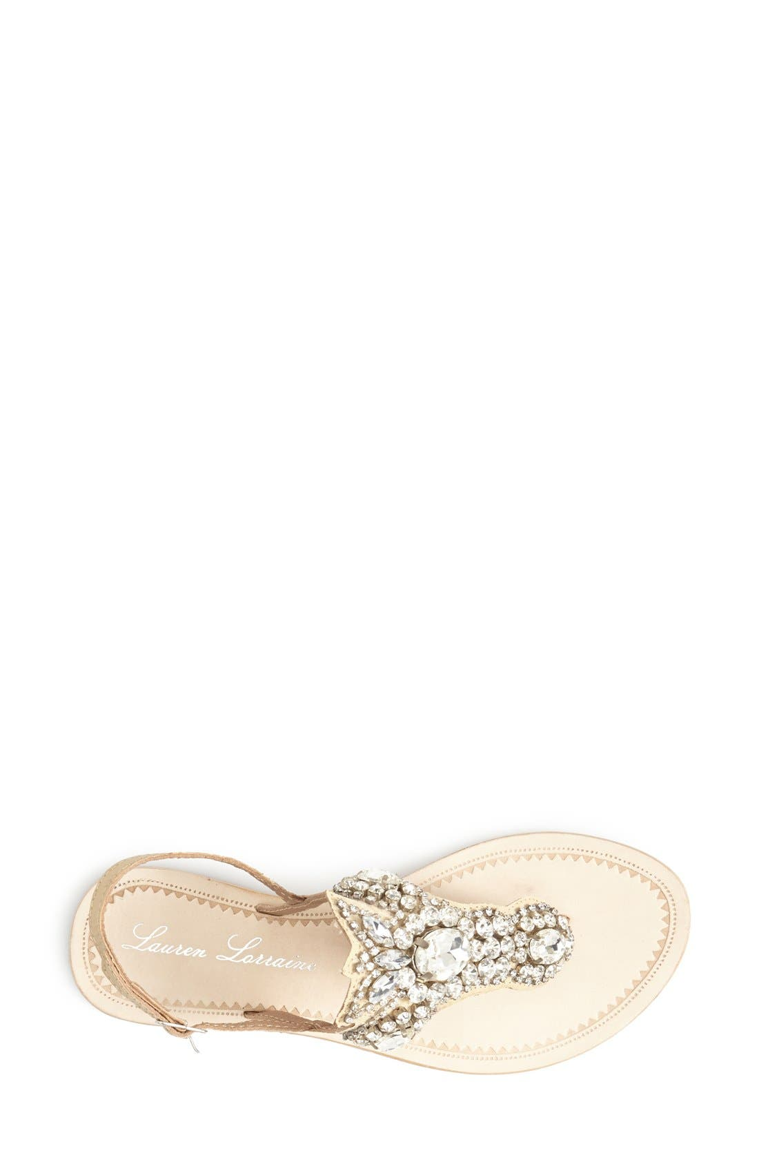 Alternate Image 3  - Lauren Lorraine 'Ibiza' Crystal Thong Sandal (Women)