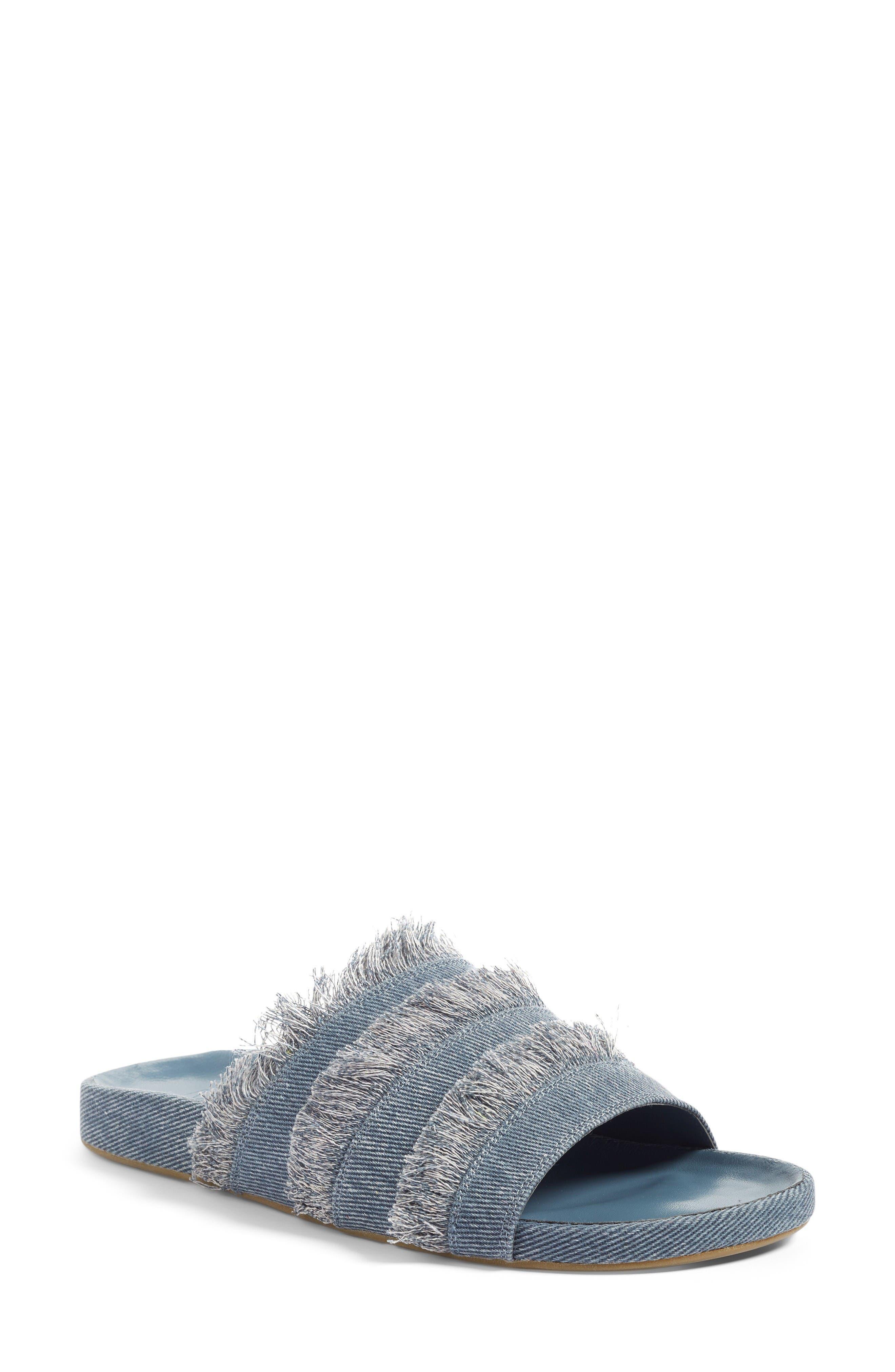 Jaden Slide Sandal,                         Main,                         color, Dark Denim