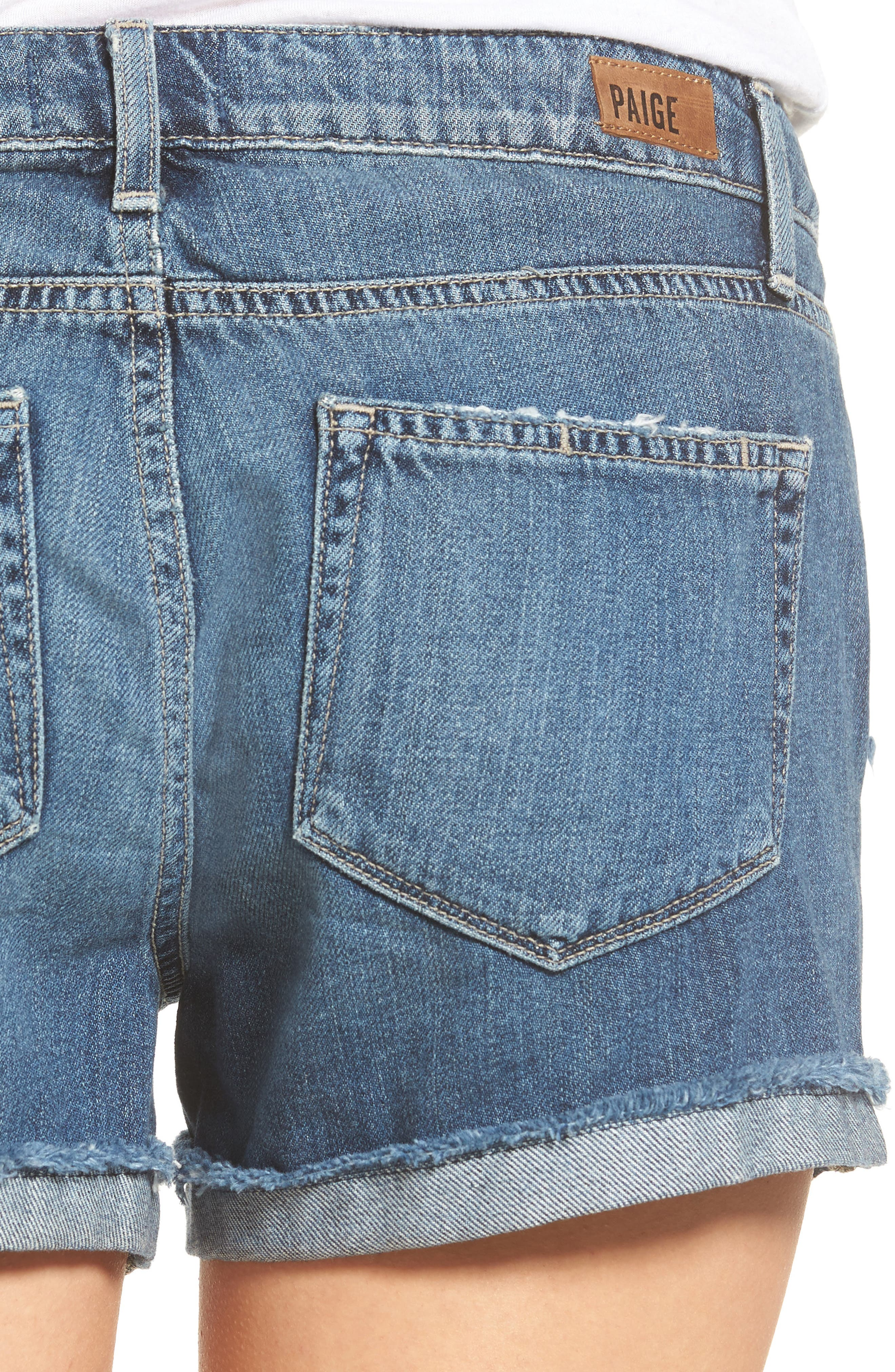 Alternate Image 5  - PAIGE Jimmy Jimmy Denim Shorts (Alta Destructed)
