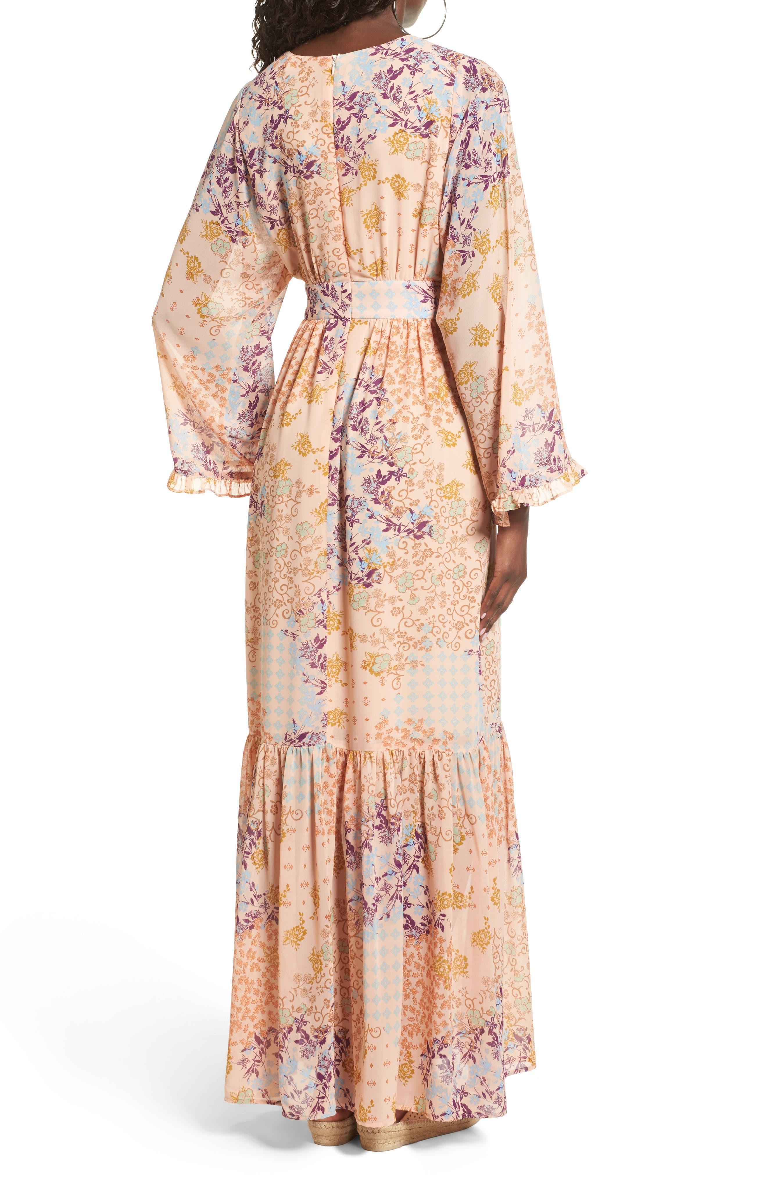 Alternate Image 2  - WAYF Viola Bell Sleeve Maxi Dress