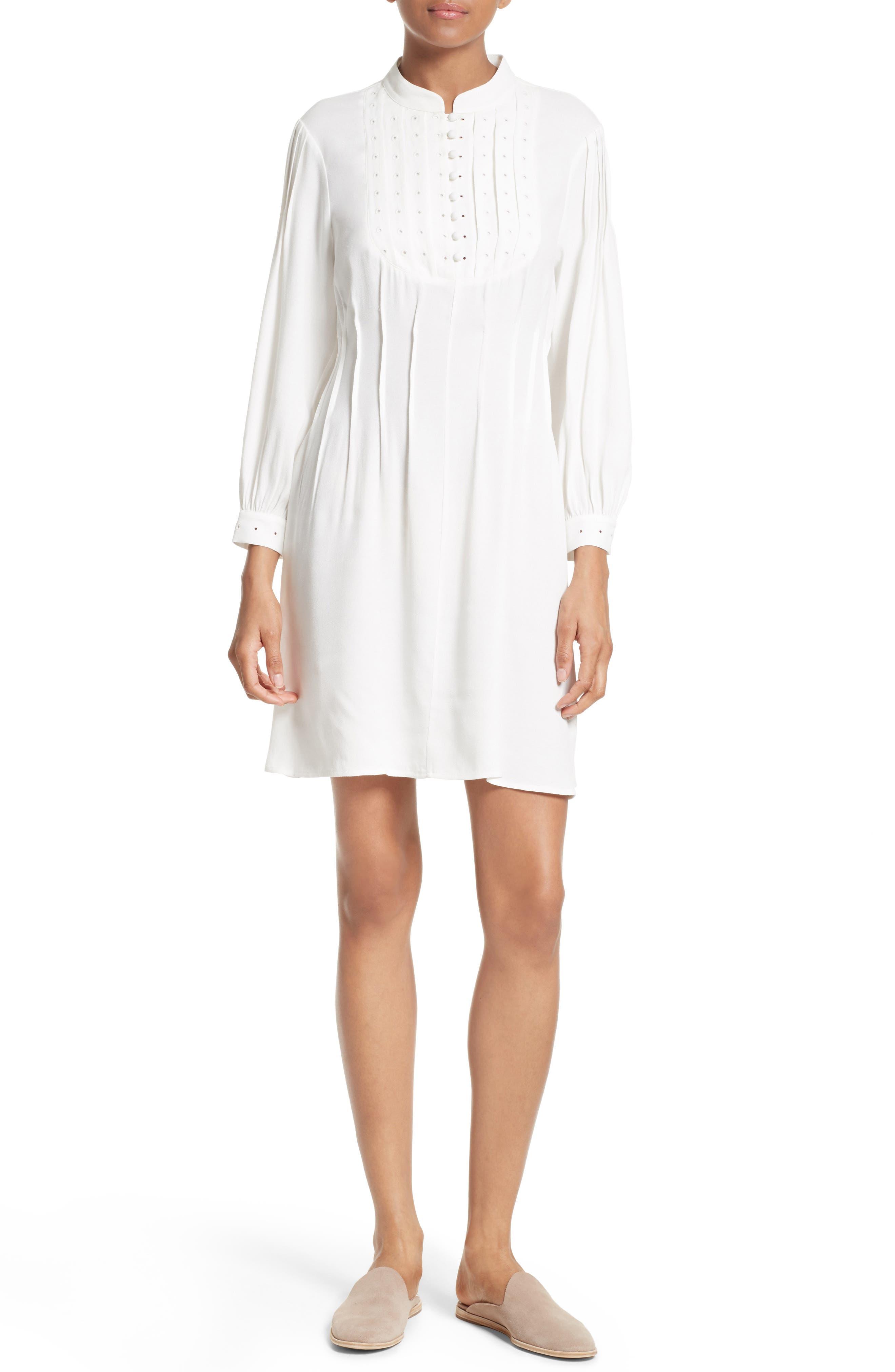 Alternate Image 1 Selected - FRAME Pleated Eyelet Dress