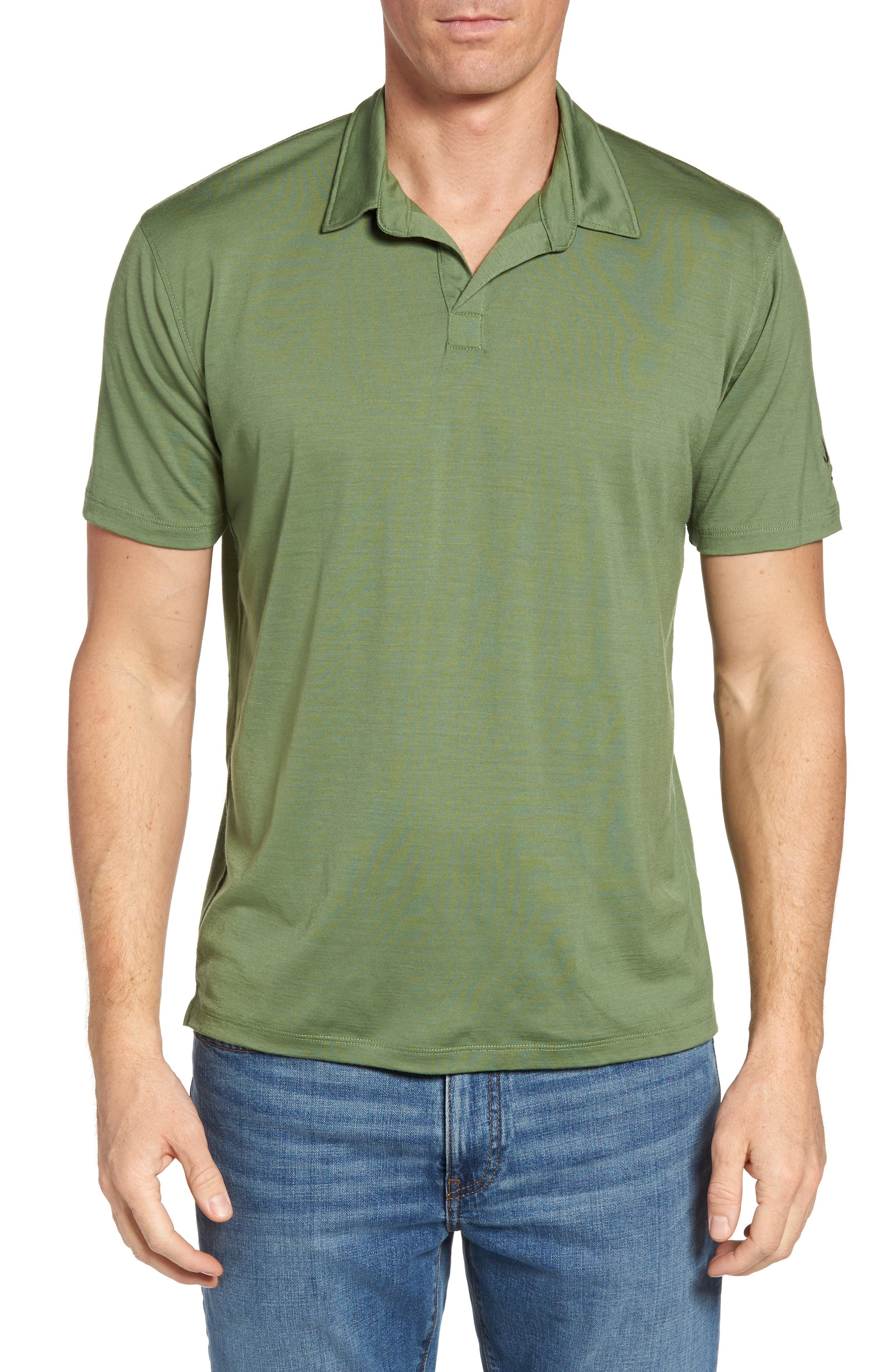 'Cirrus' Merino Wool Jersey Polo,                         Main,                         color, High Line