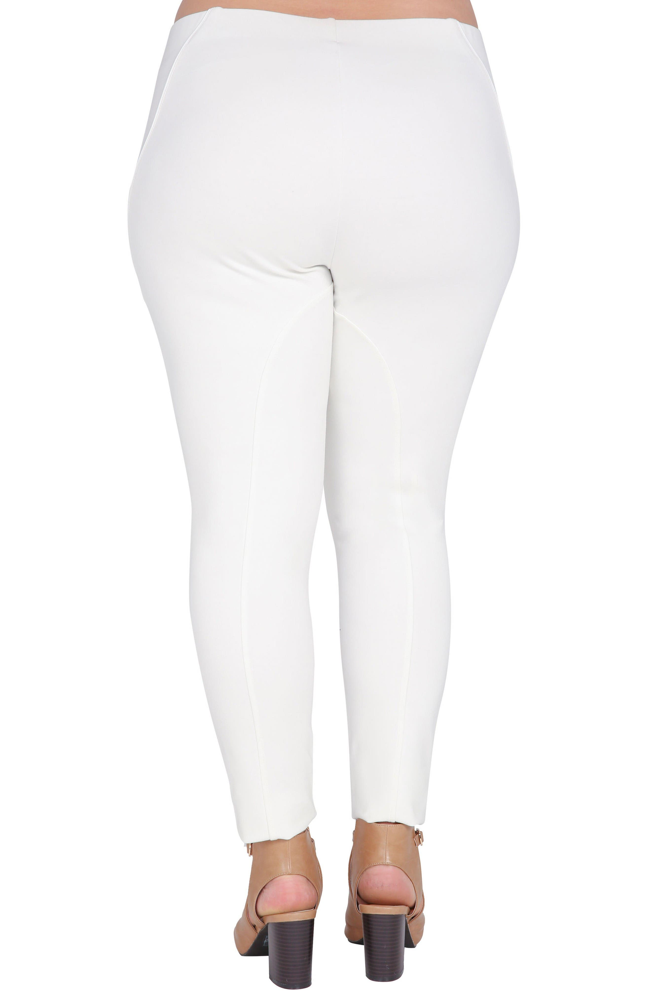 Belinda High Waist Ponte Leggings,                             Alternate thumbnail 2, color,                             White
