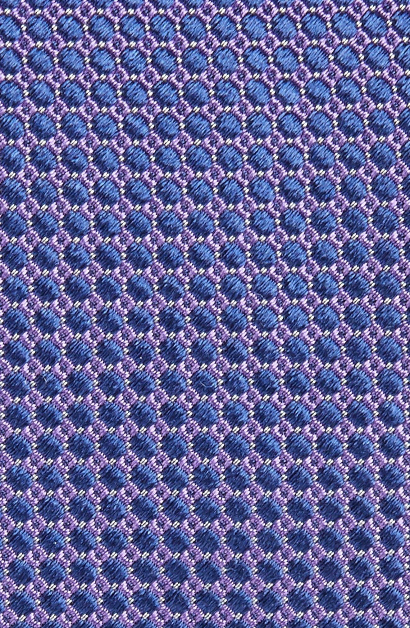 Circle Geometric Silk Tie,                             Alternate thumbnail 2, color,                             Purple