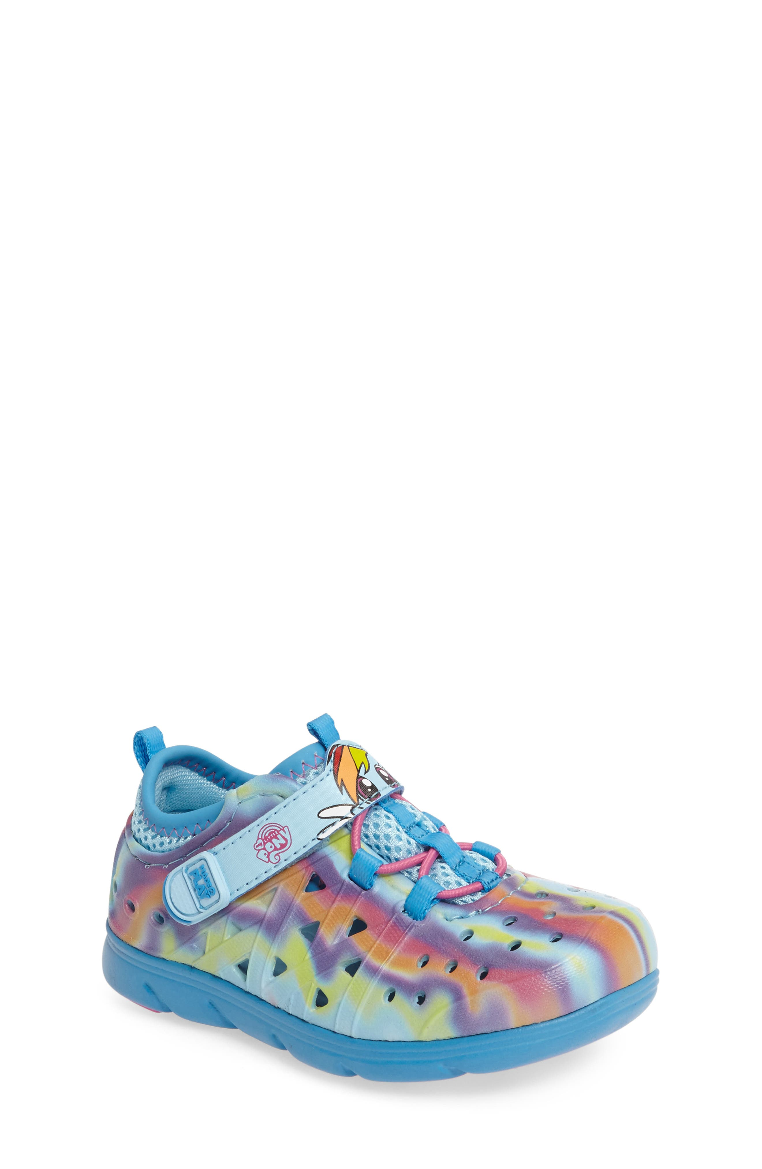 Made2Play<sup>®</sup> My Little Pony<sup>™</sup> Phibian Sneaker,                             Main thumbnail 1, color,                             Rainbow Turquoise