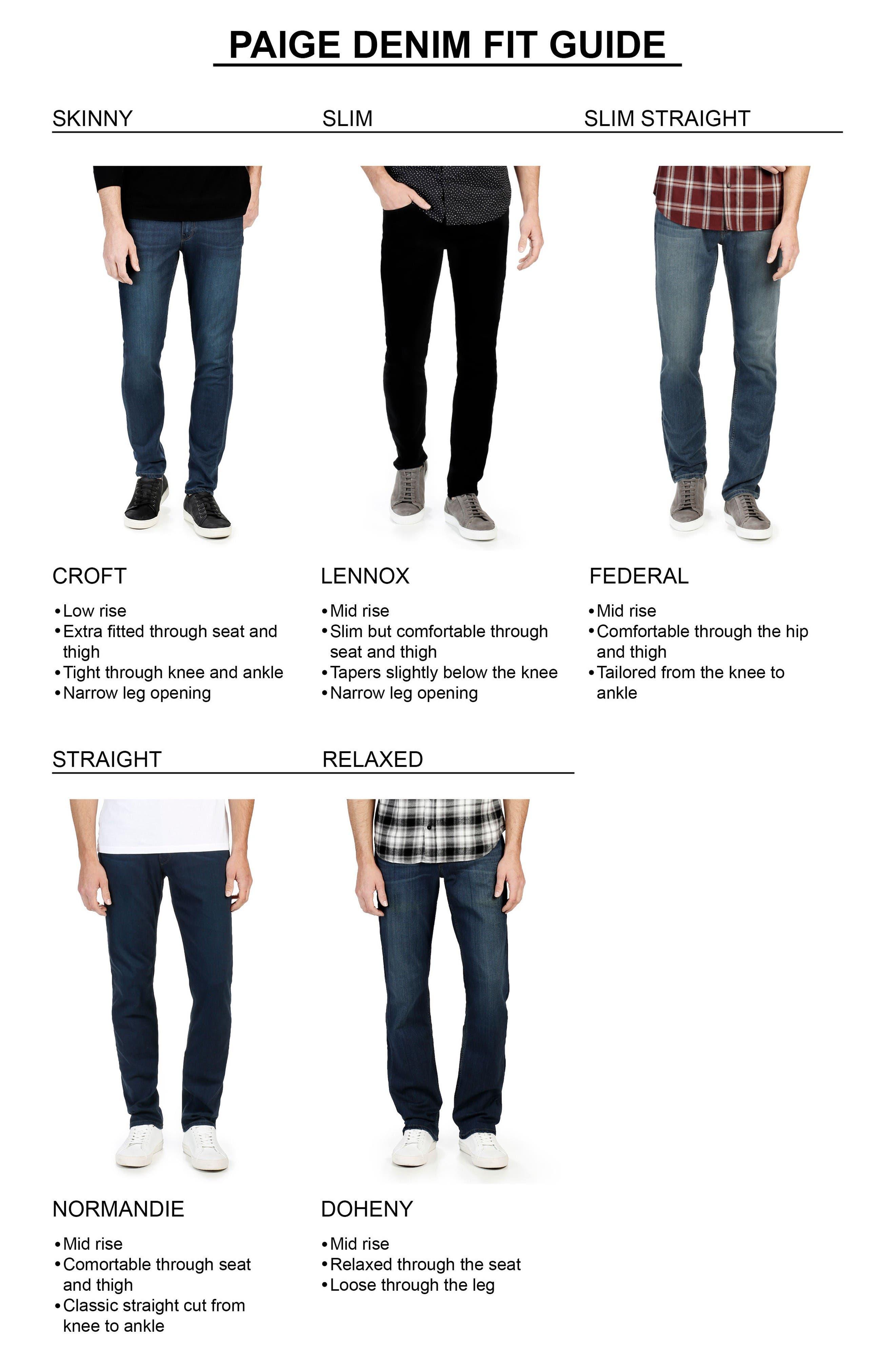 Alternate Image 5  - PAIGE Transcend - Lennox Straight Leg Jeans (Leo)