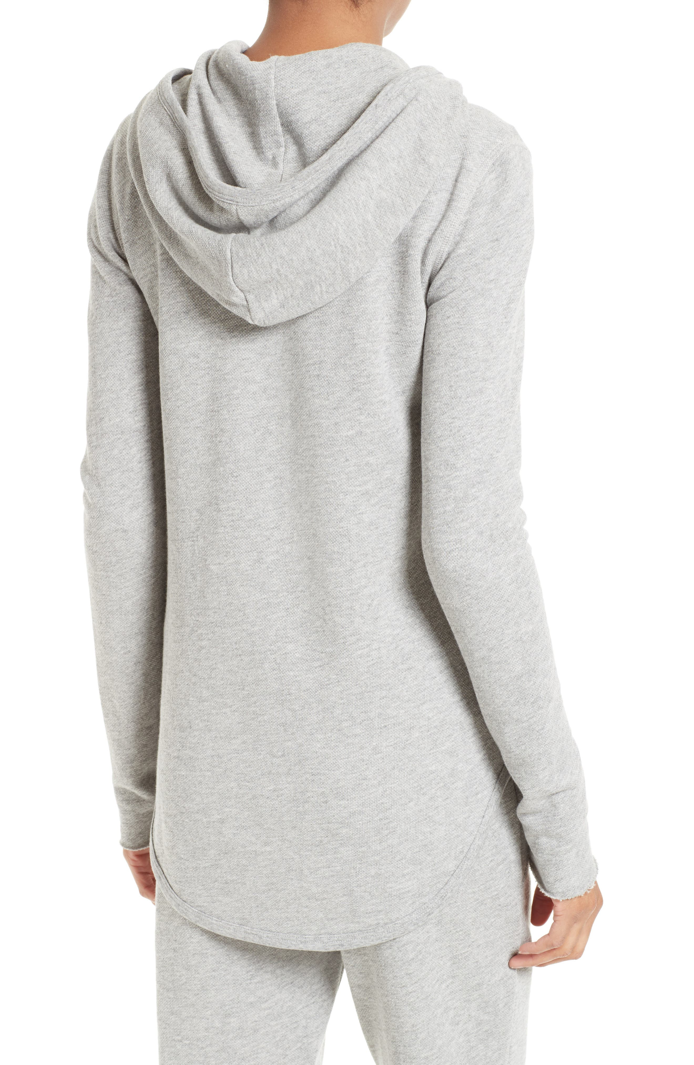 French Terry Zip Hoodie,                             Alternate thumbnail 2, color,                             Heather Grey