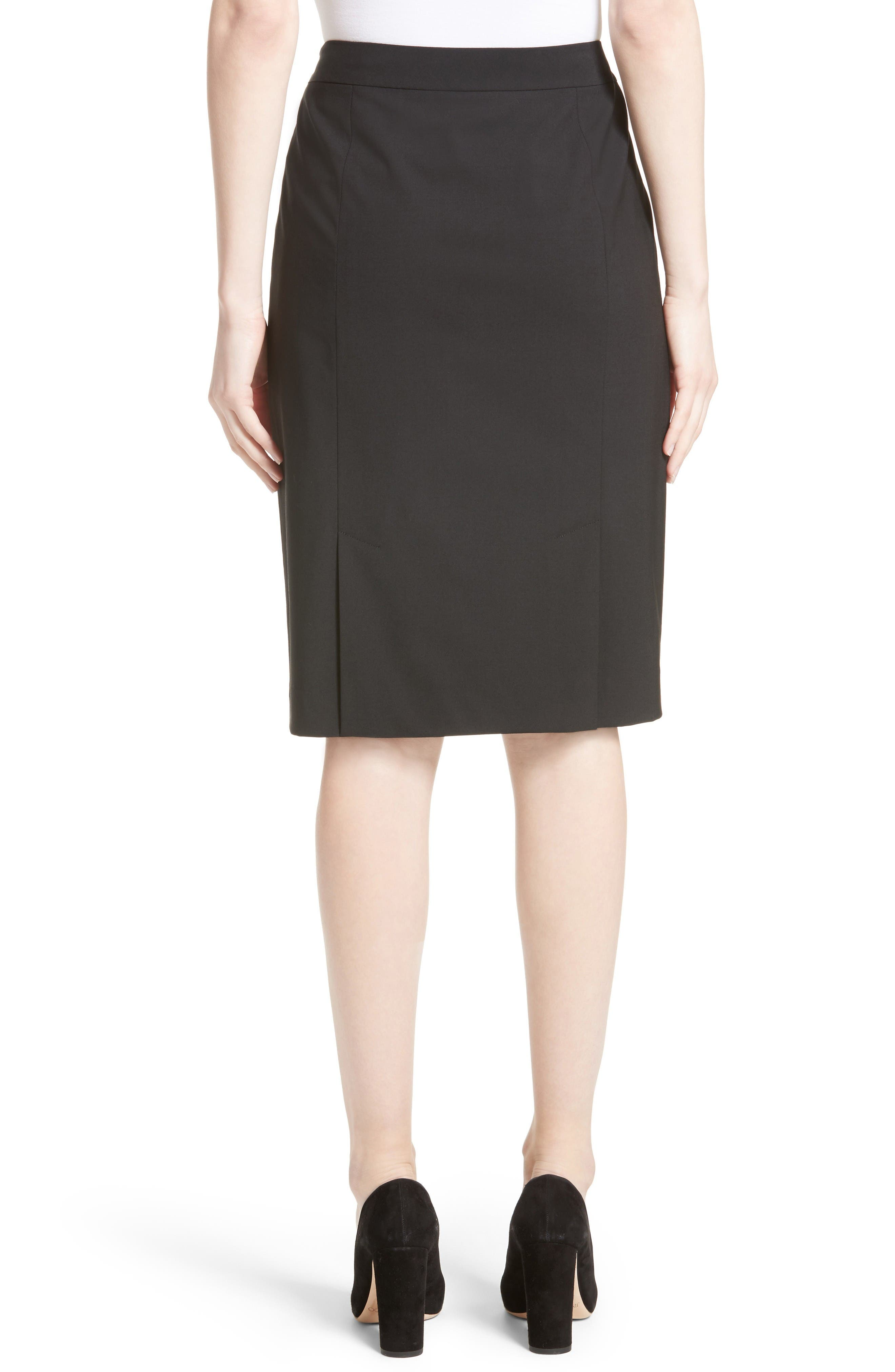 Alternate Image 2  - Lafayette 148 New York Stretch Wool Pencil Skirt