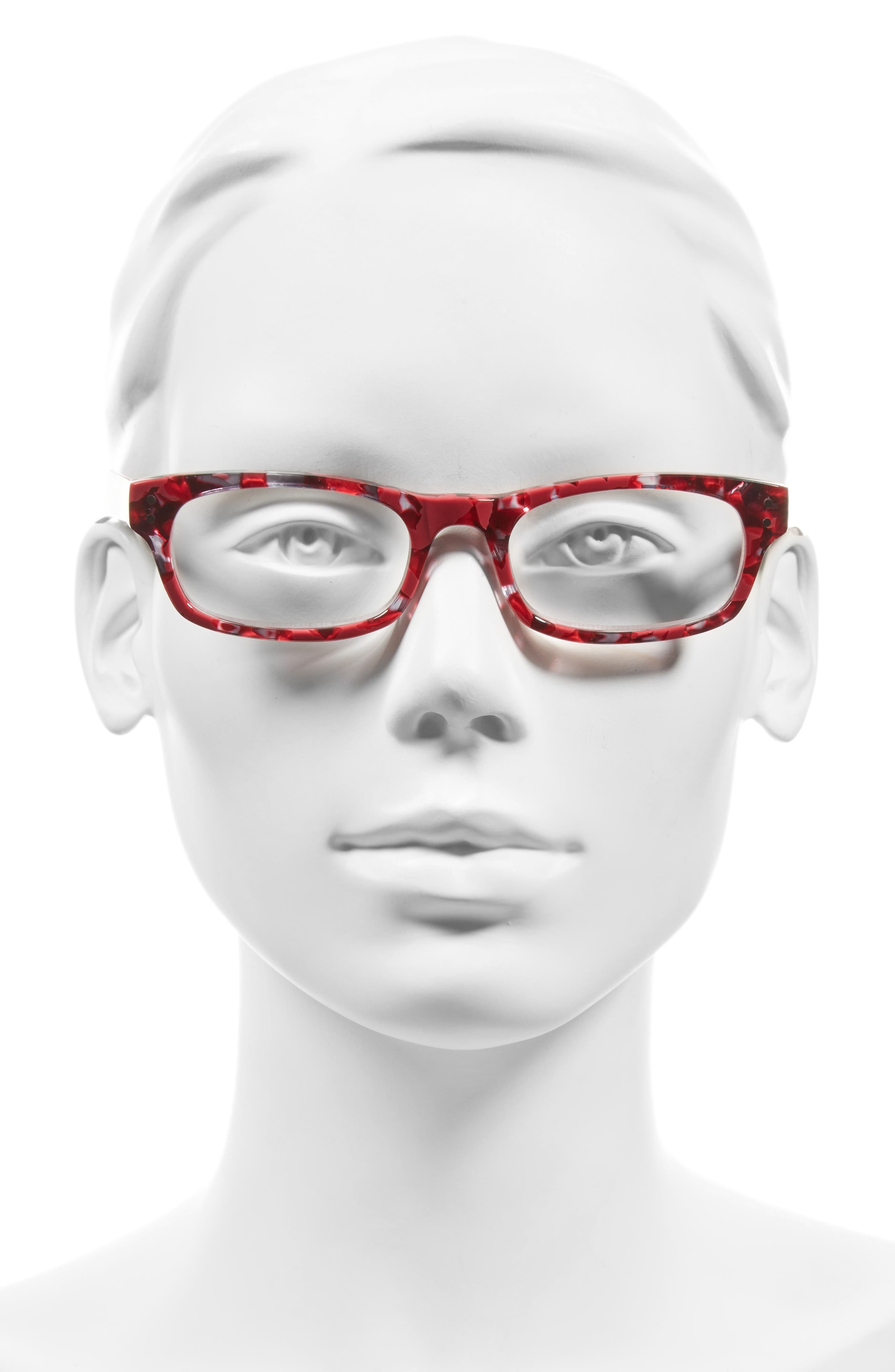 Cindy 50mm Reading Glasses,                             Alternate thumbnail 2, color,                             Berry