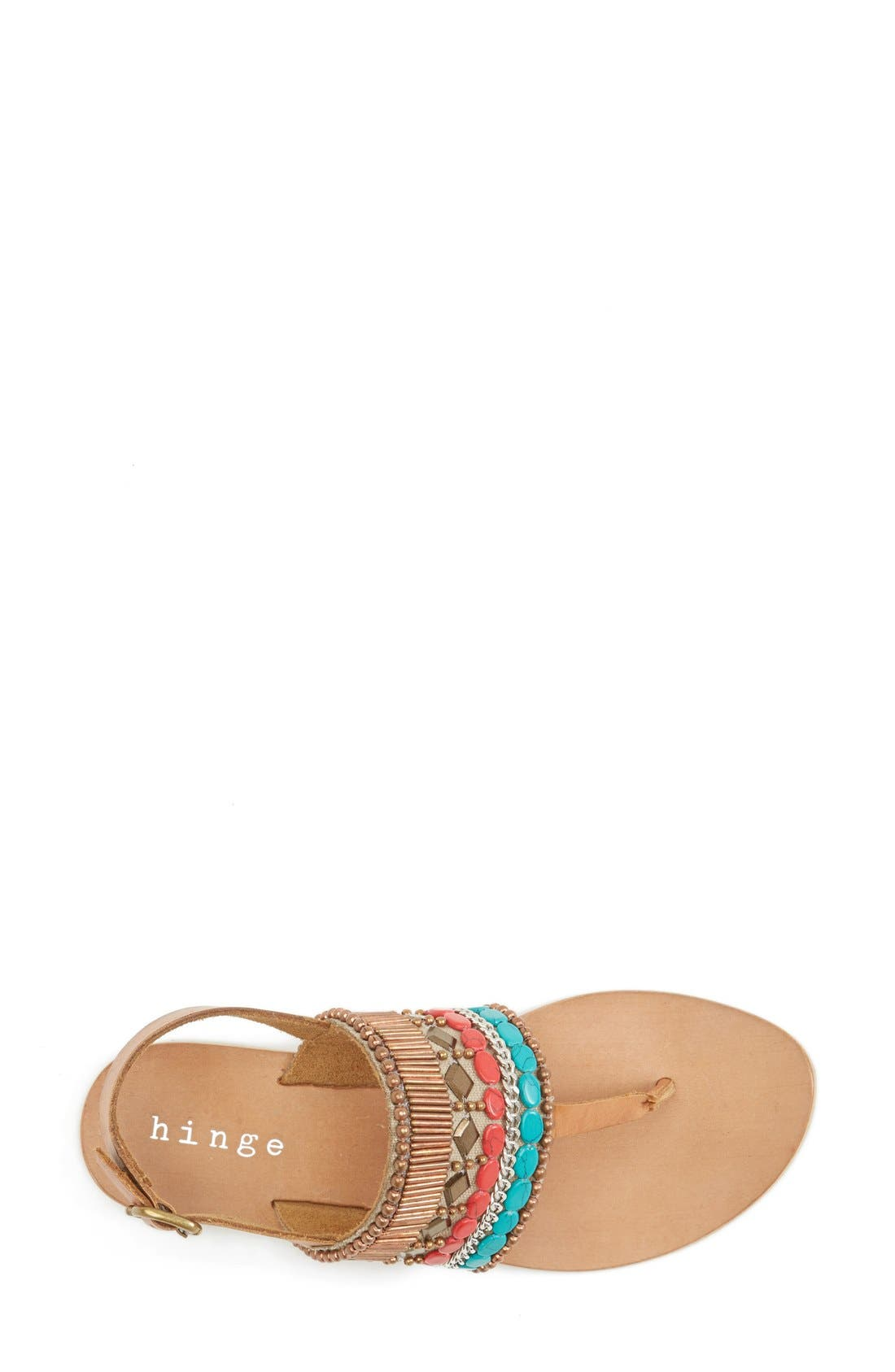 Alternate Image 3  - Hinge Beaded Thong Sandal (Women)