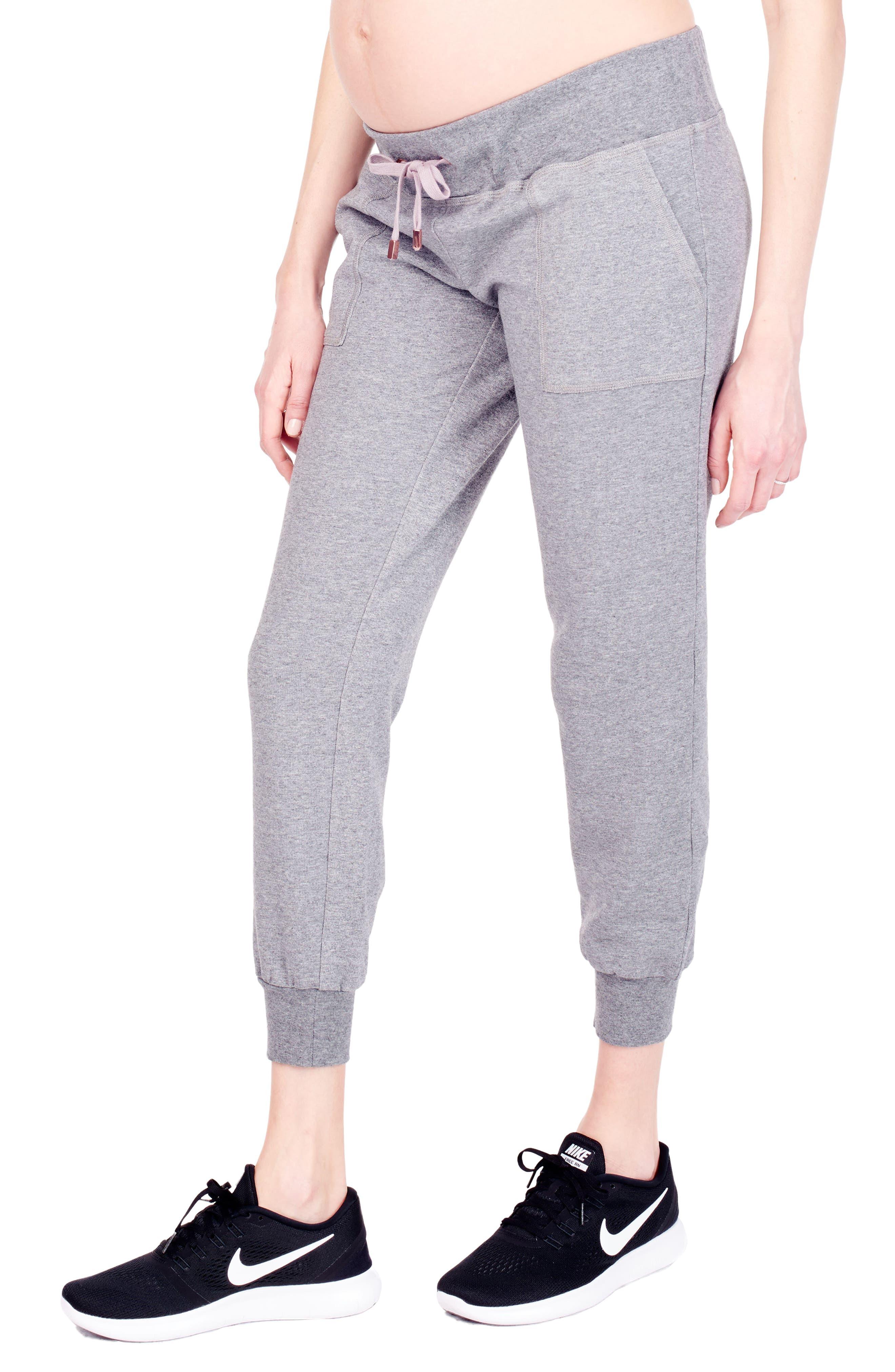 Alternate Image 4  - Ingrid & Isabel® Cozy Fleece Maternity Jogger Pants