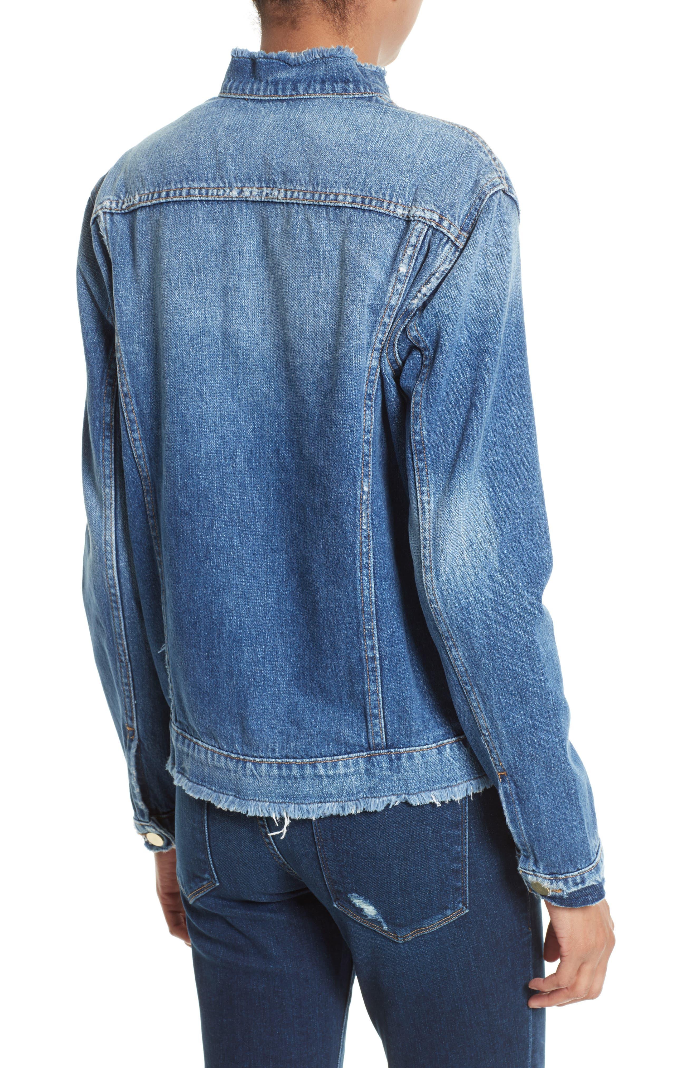 Alternate Image 2  - FRAME Le Fray Denim Jacket (Nordstrom Exclusive)