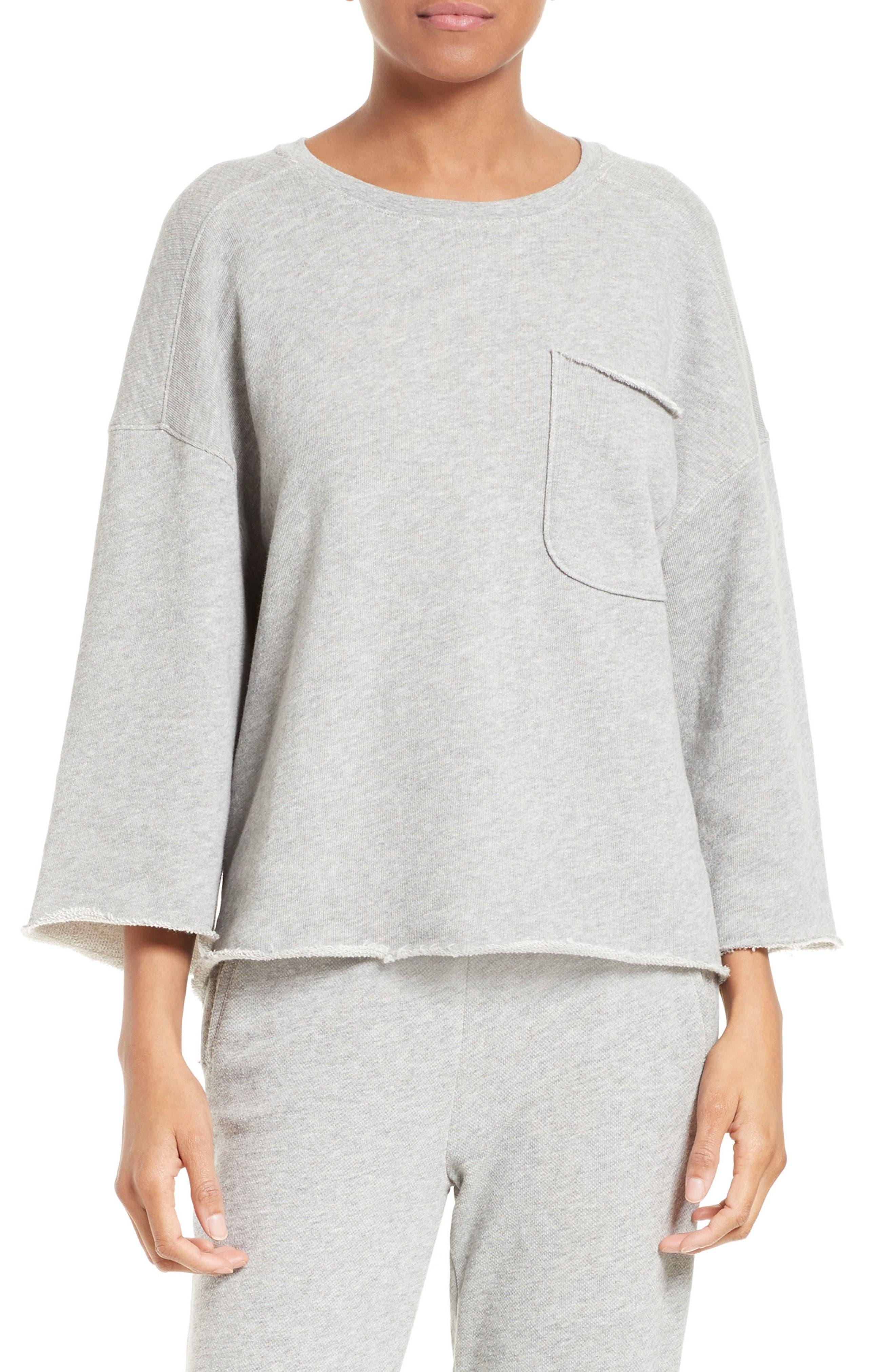 Pocket Sweatshirt,                         Main,                         color, Marble