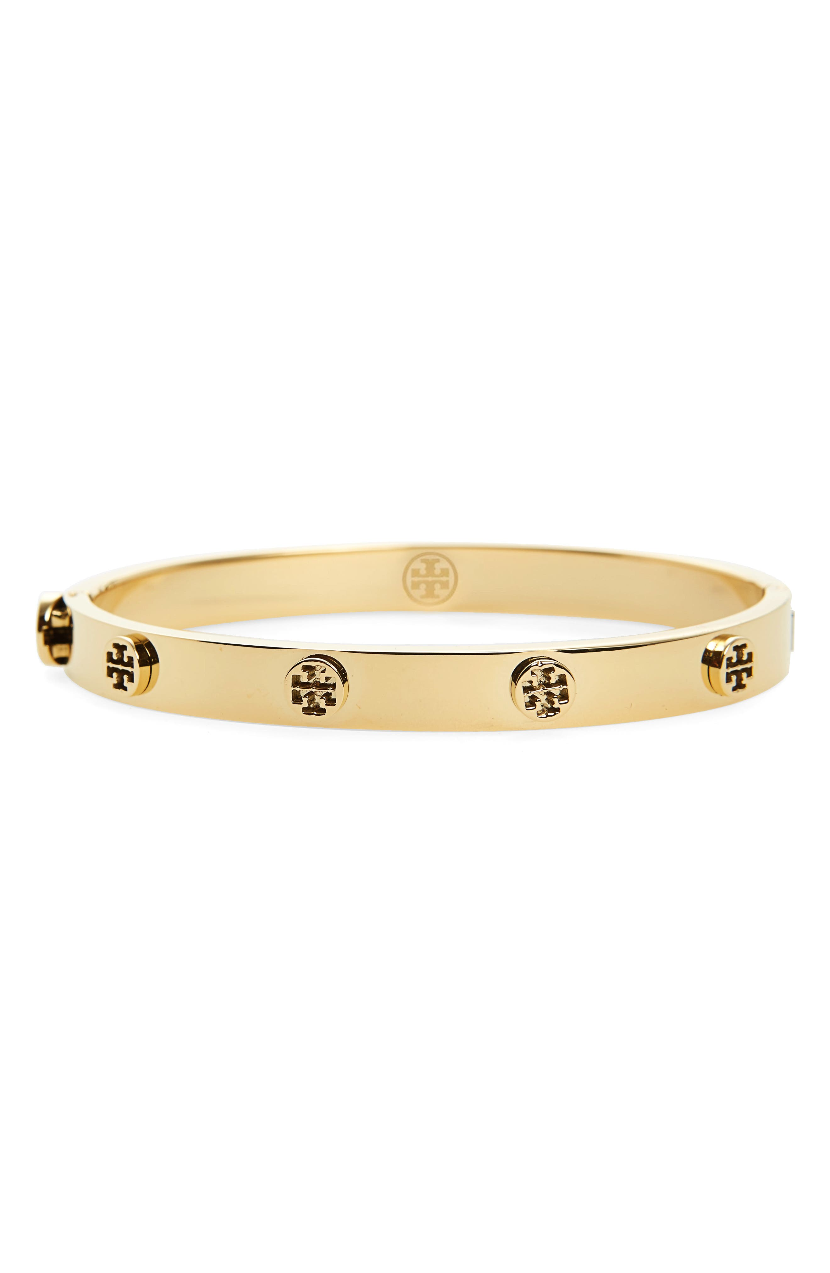 Main Image - Tory Burch Logo Stud Bangle