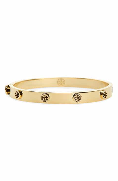1344afd64805 Tory Burch Logo Stud Bangle