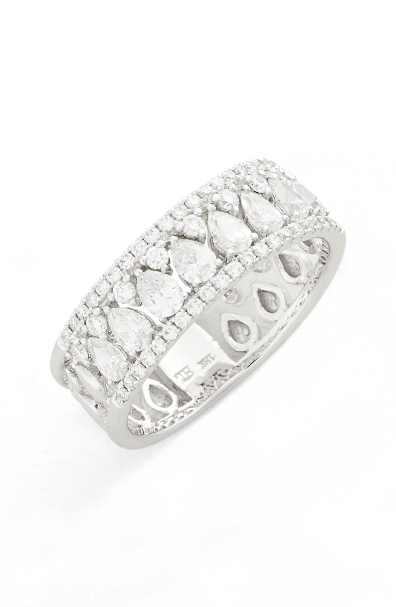 Main Image - Bony Levy Liora Diamond Mixed Cut Band Ring (Nordstrom Exclusive)