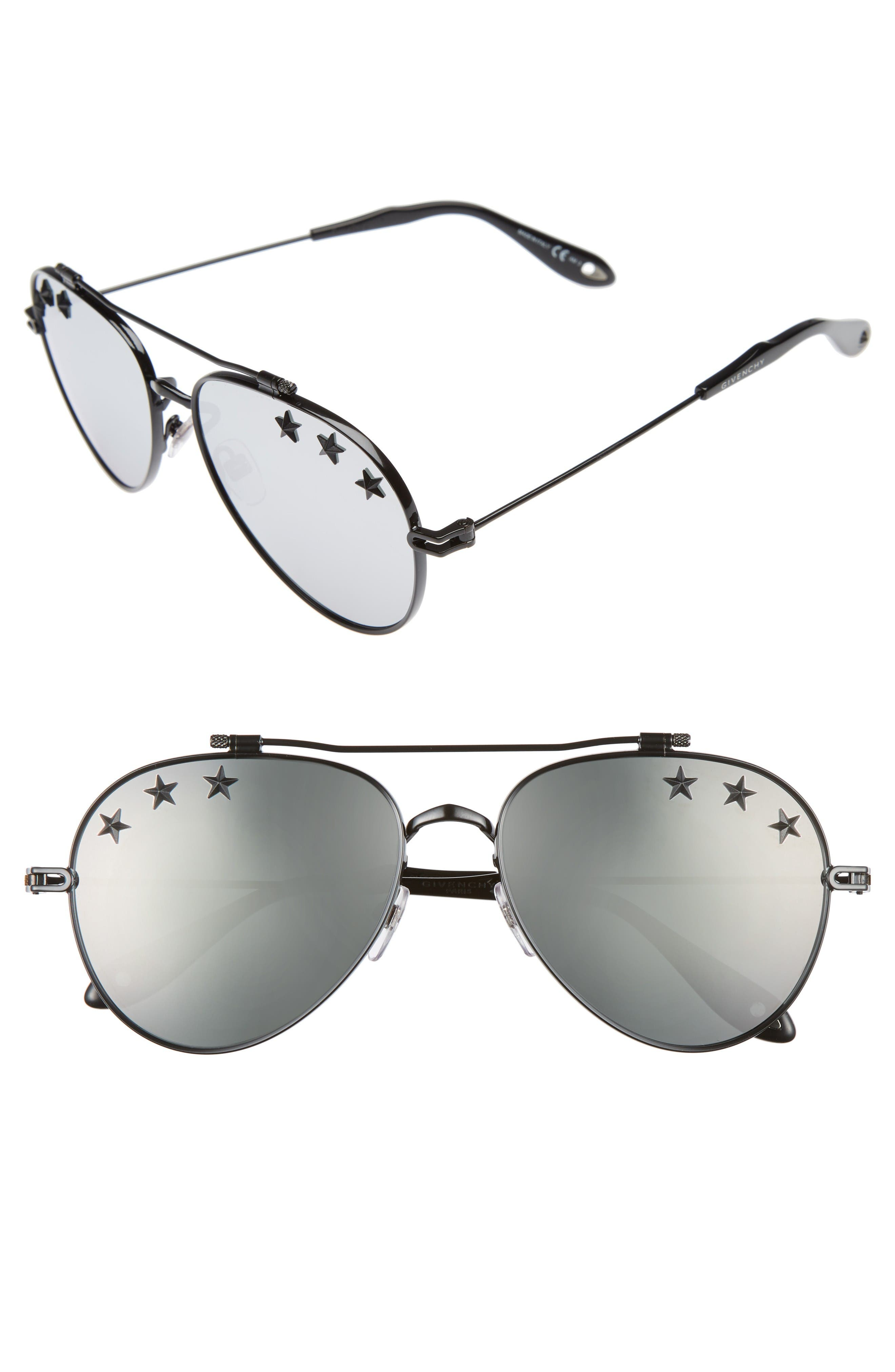 Main Image - Givenchy Stars 58mm Aviator Sunglasses